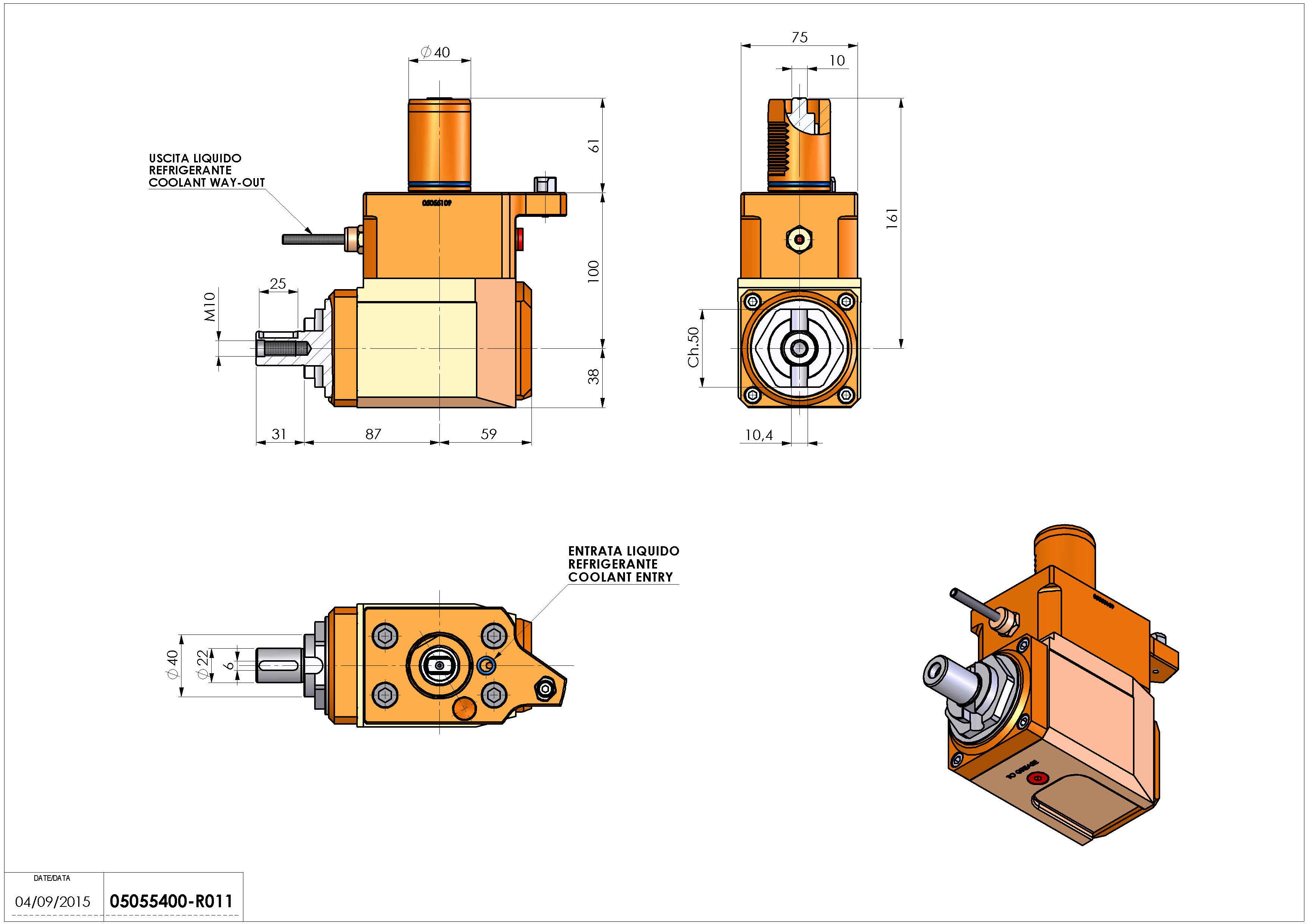 Technical image - LT-A VDI40 DIN22 G60 L H100 MZ.