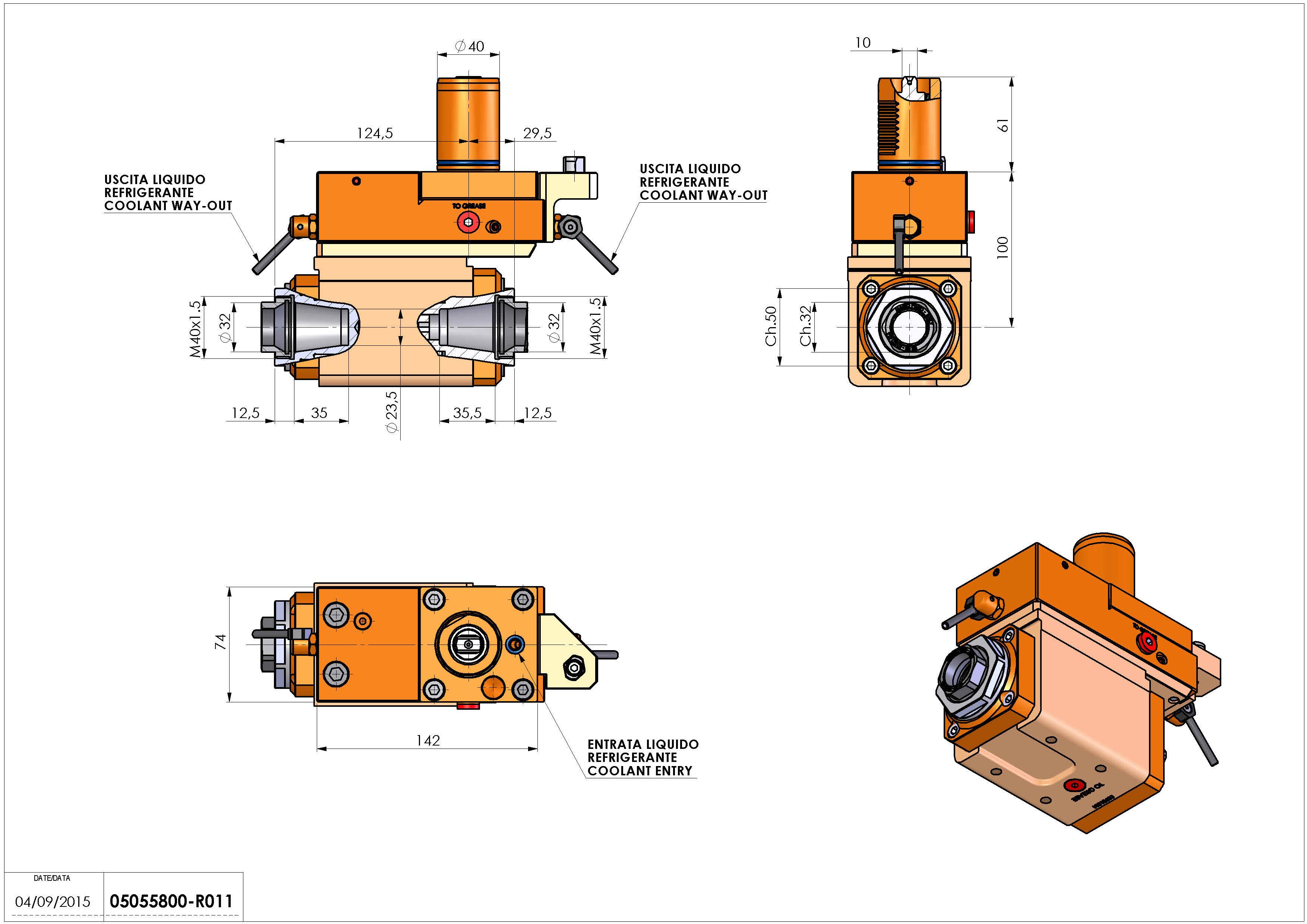 Technical image - LT-A VDI40 ER32F-32F OFSH100MZ.