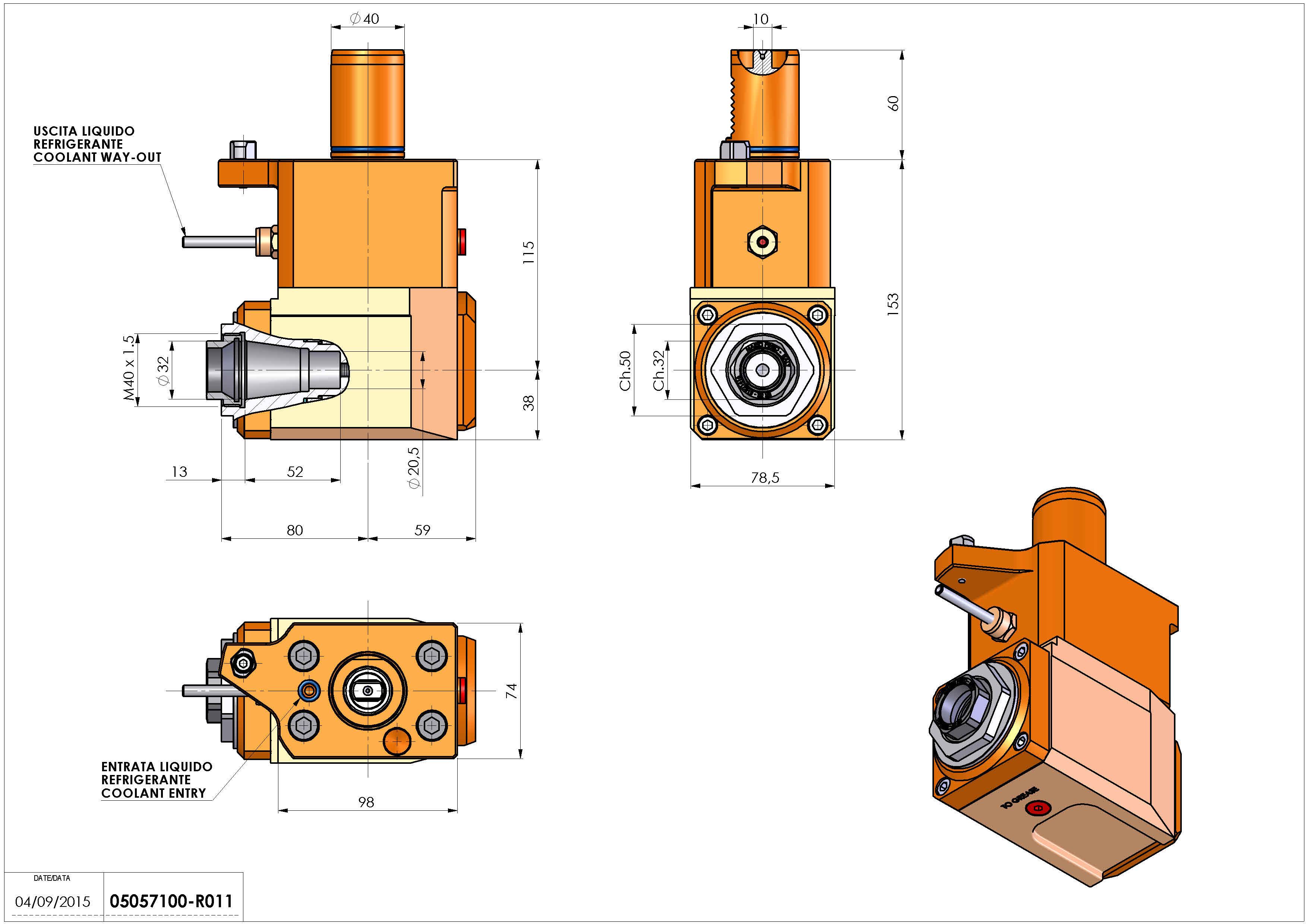 Technical image - LT-A VDI40 ER32F H115 MLTX MZ.