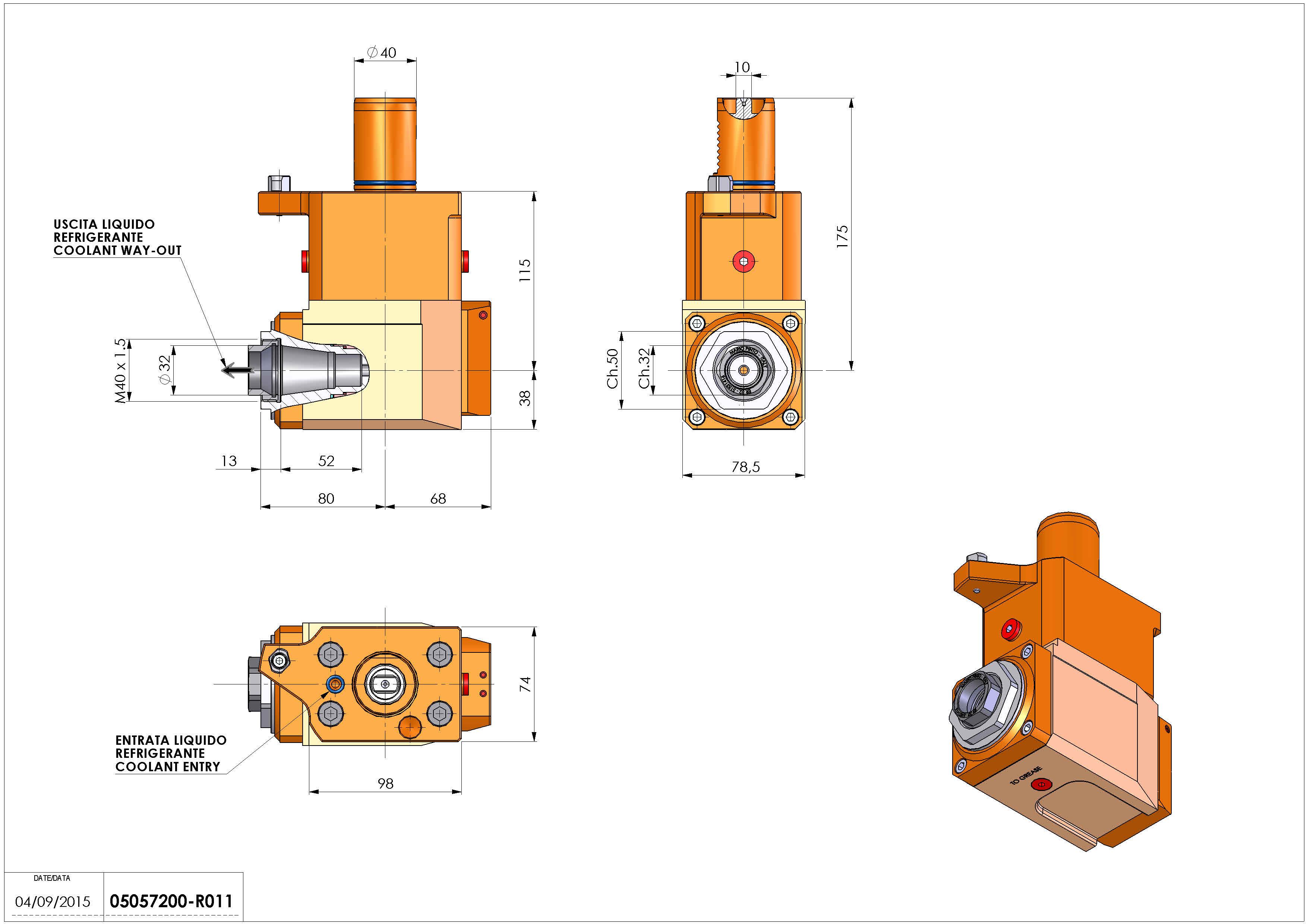 Technical image - LT-A VDI40 ER32F RF H115 M MZ.