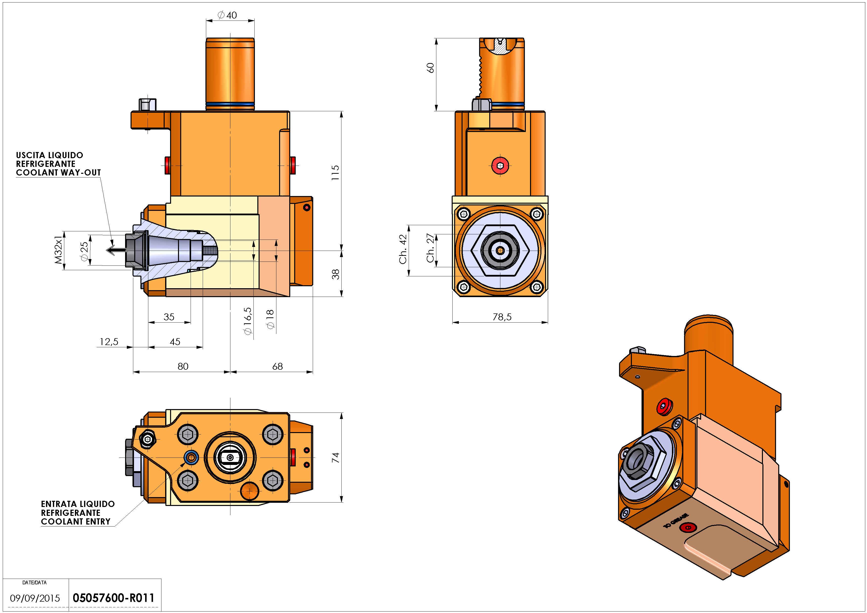 Technical image - LT-A VDI40 ER25F RF H115 M MZ.