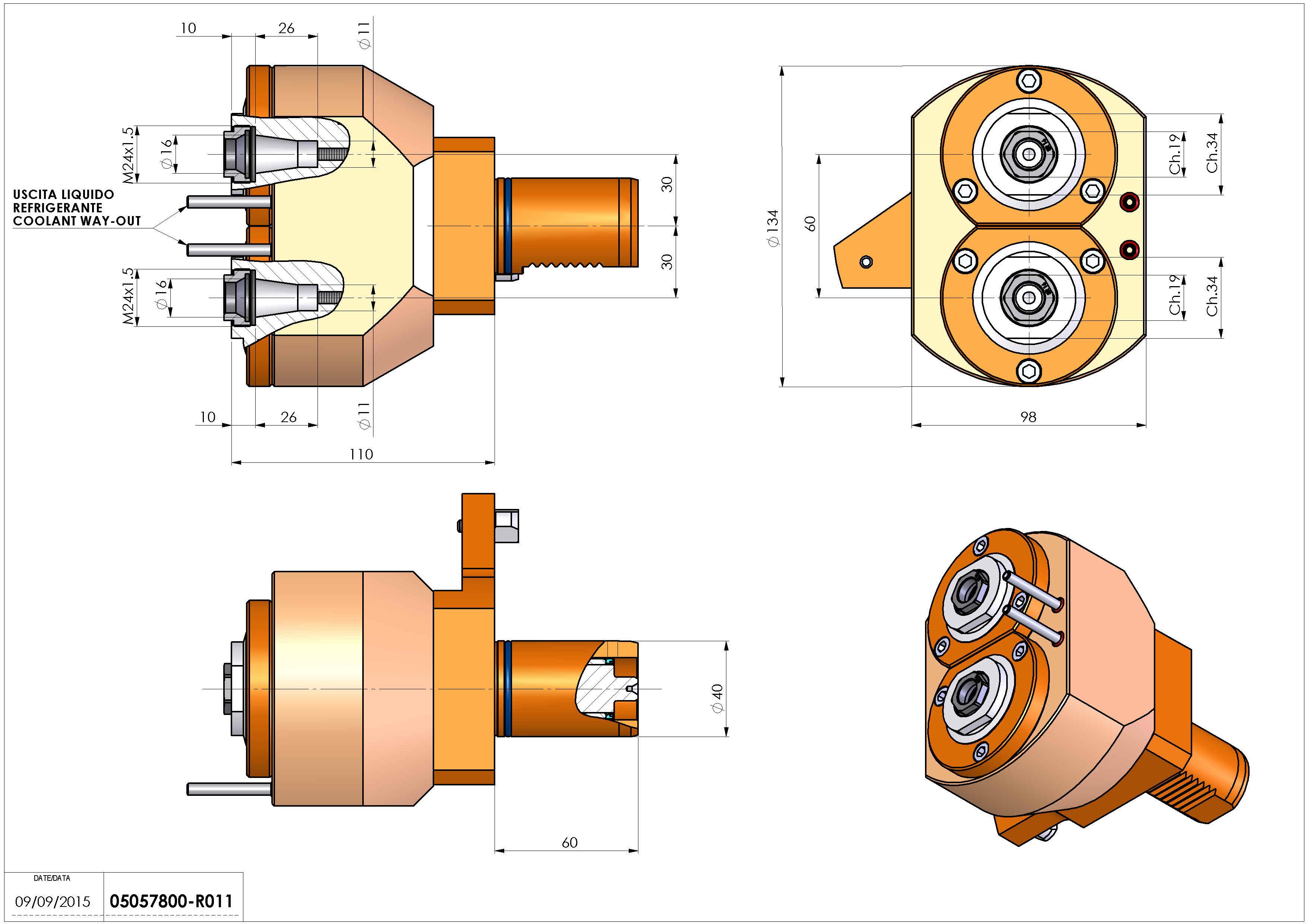 Technical image - LT-S2 VDI40 ER16F-16F H110 MZ.