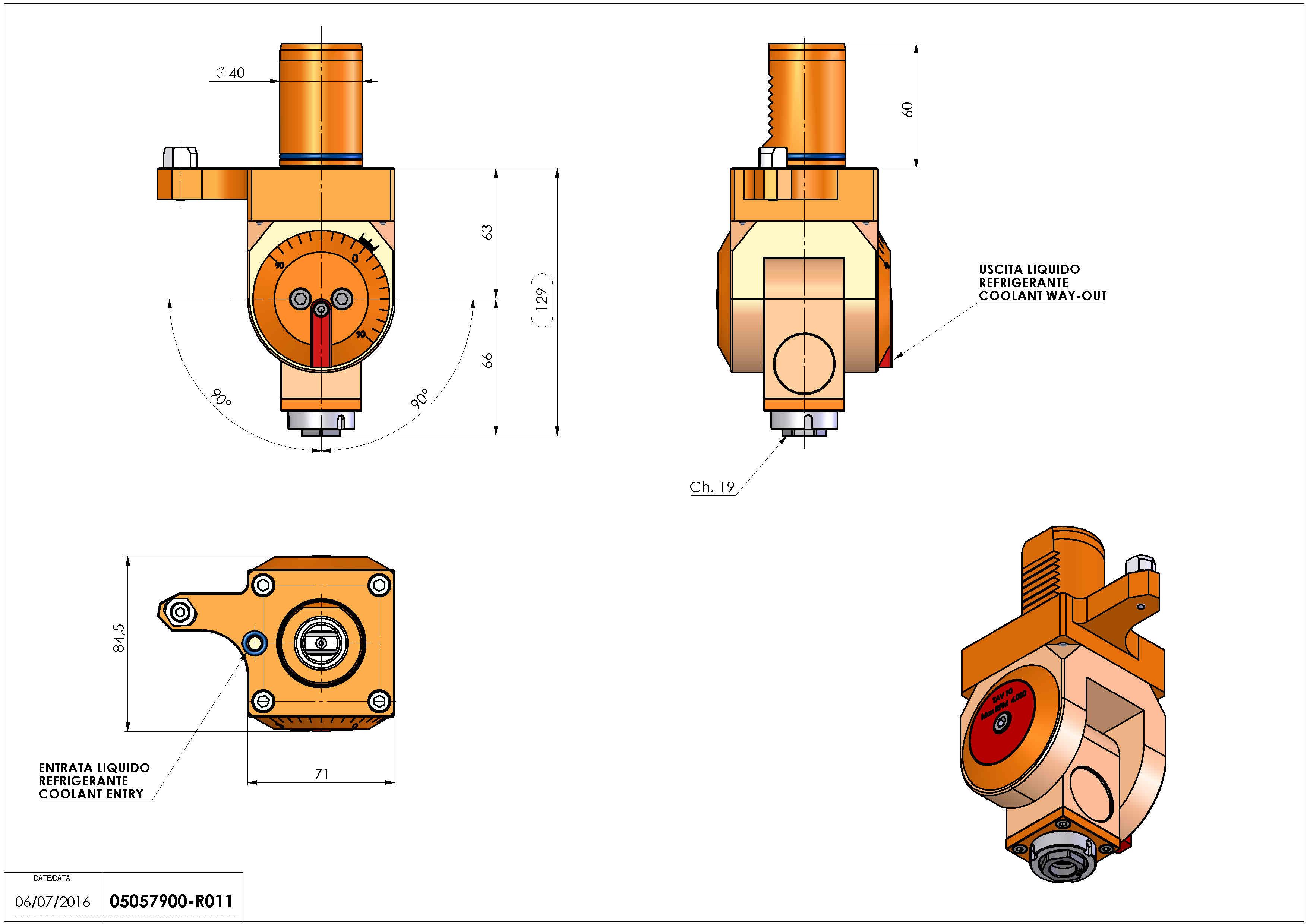 Technical image - LT-T VDI40 ER16F H63-129 MZ.