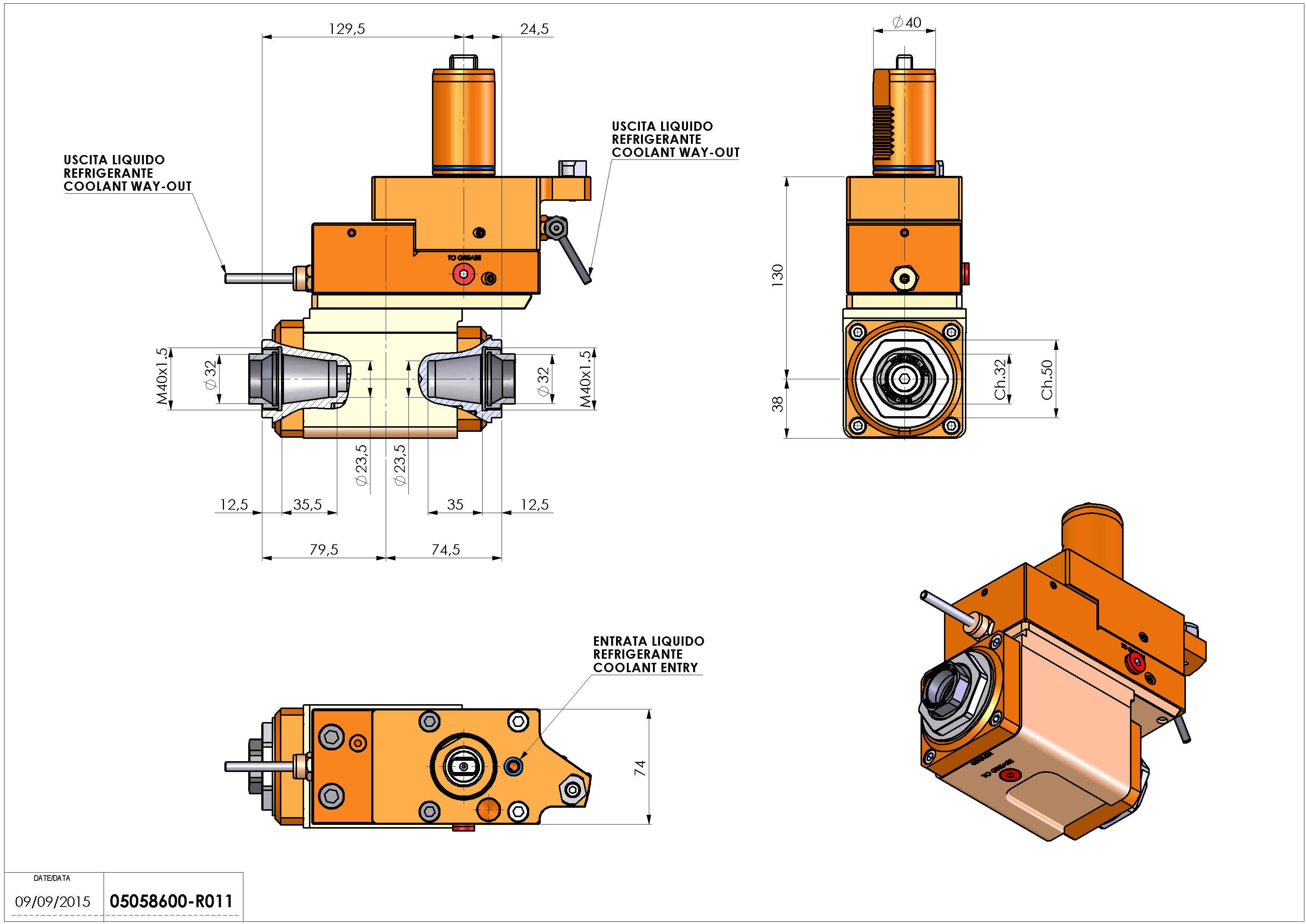 Technical image - LT-A VDI40 ER32F-32F OFH130 MZ.