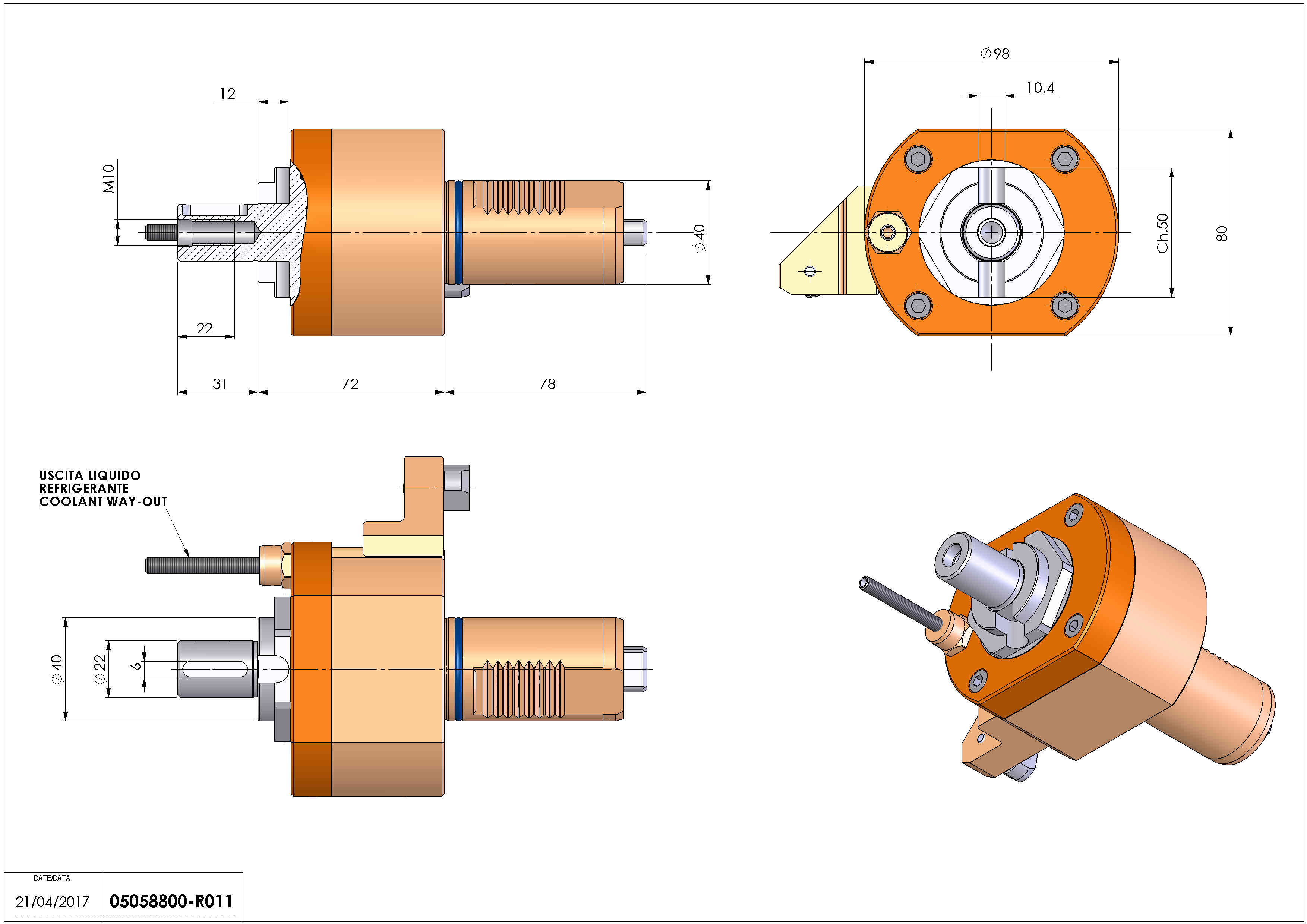 Technical image - LT-S VDI40 DIN138-22 H72 MZ.