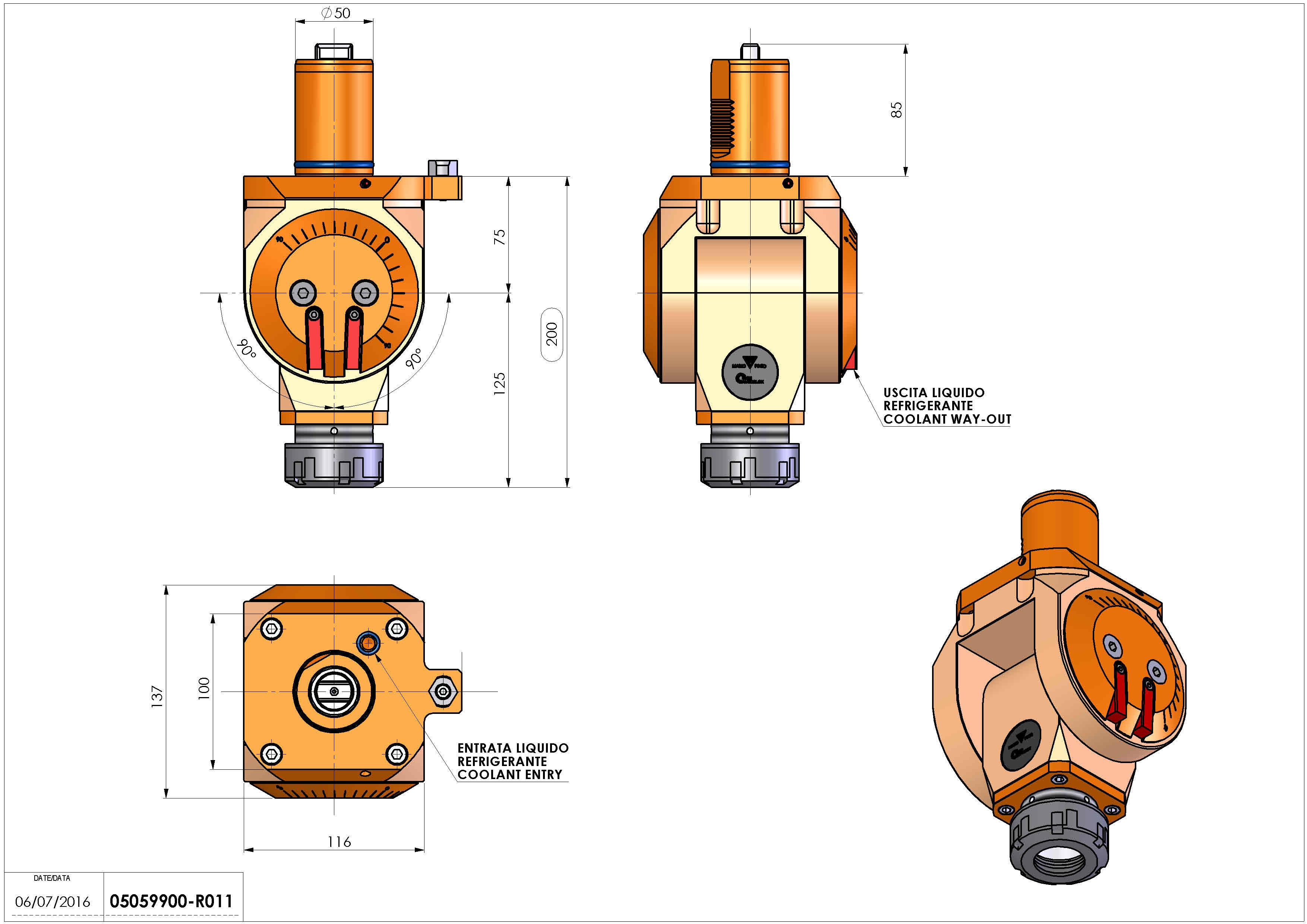 Technical image - LT-T VDI50 ER40 H75-200 MZ.
