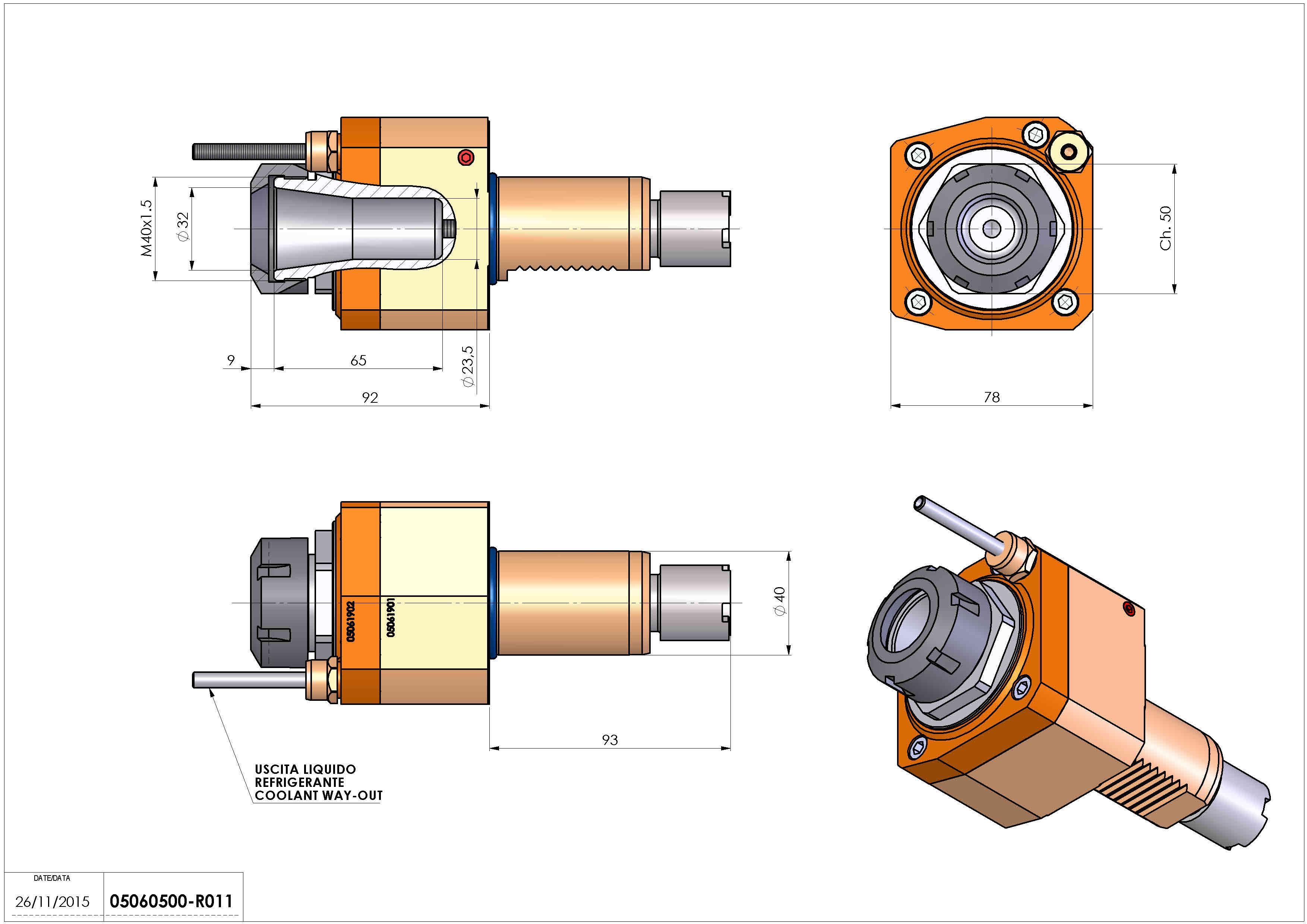 Technical image - LT-S VDI40 ER32 H92 OK.