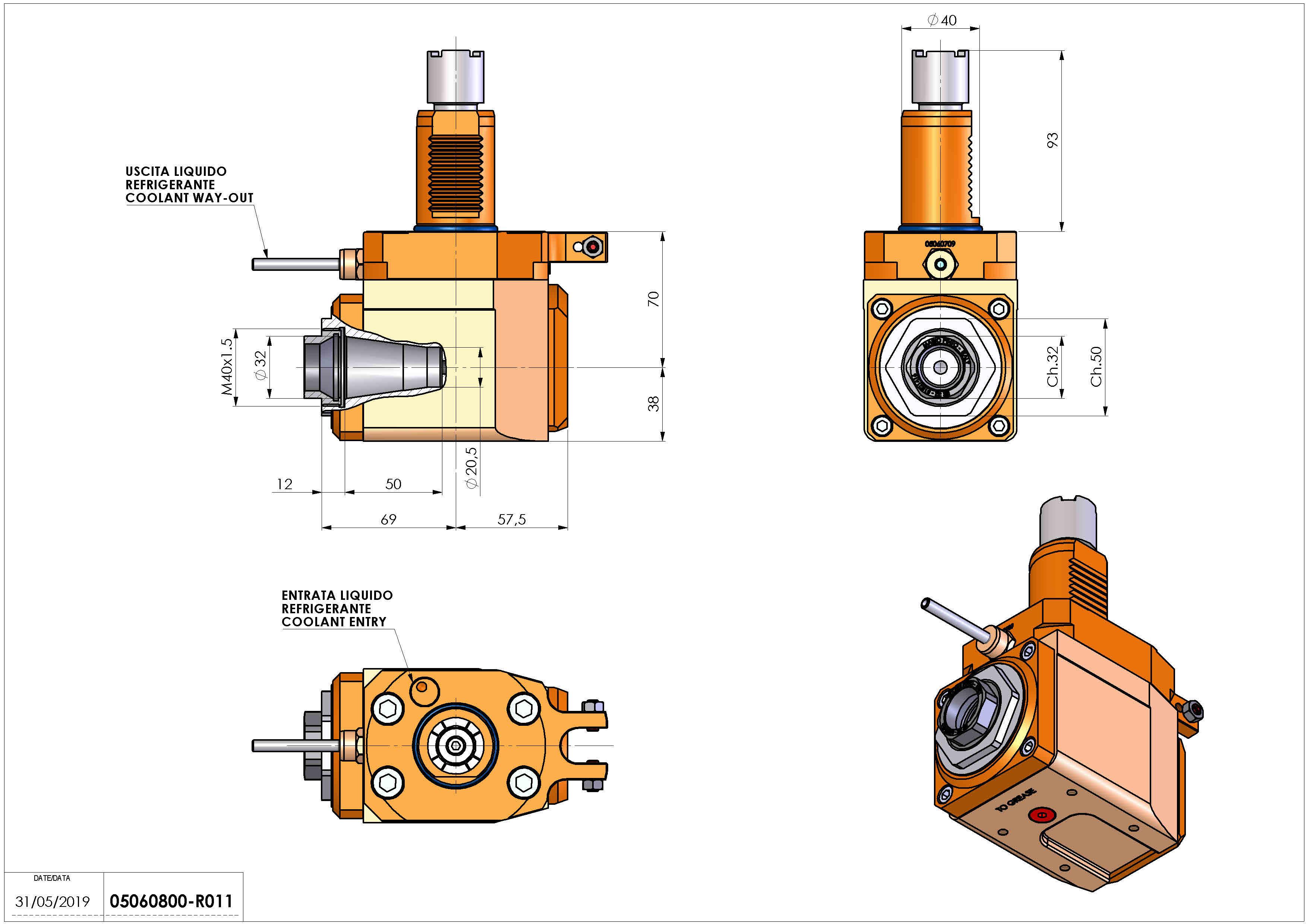 Technical image - LT-A VDI40 ER32F R H70.
