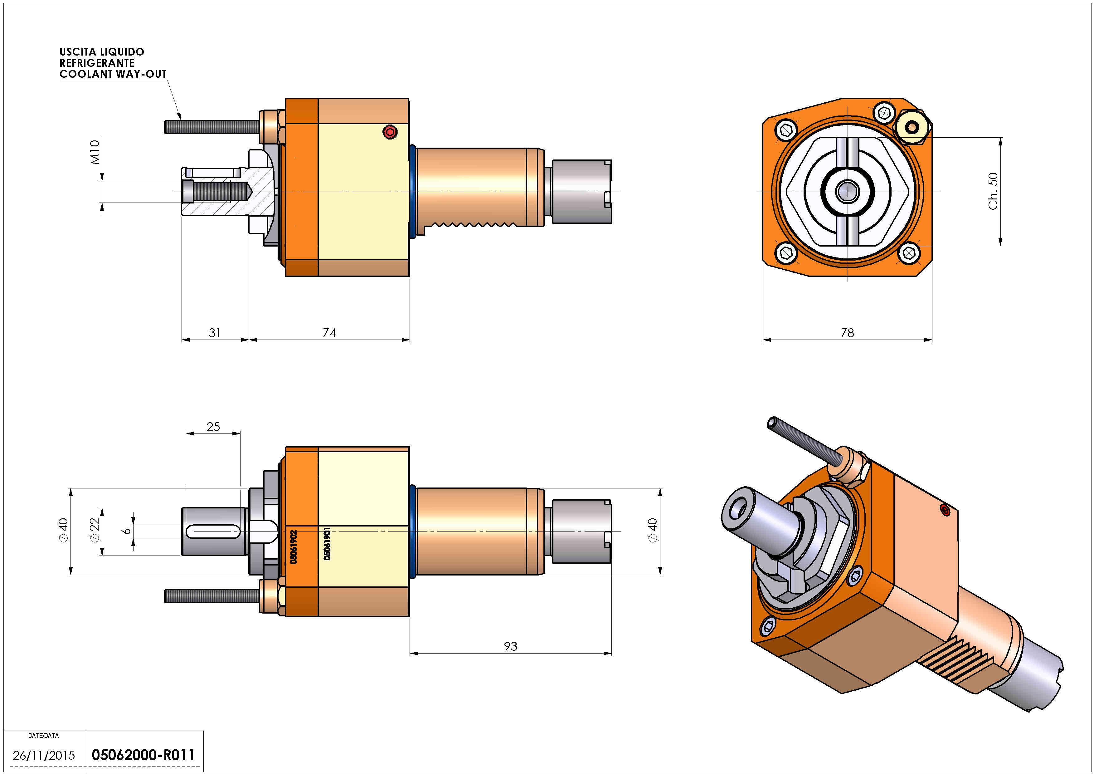 Technical image - LT-S VDI40 DIN138-22 H74 OKUMA.