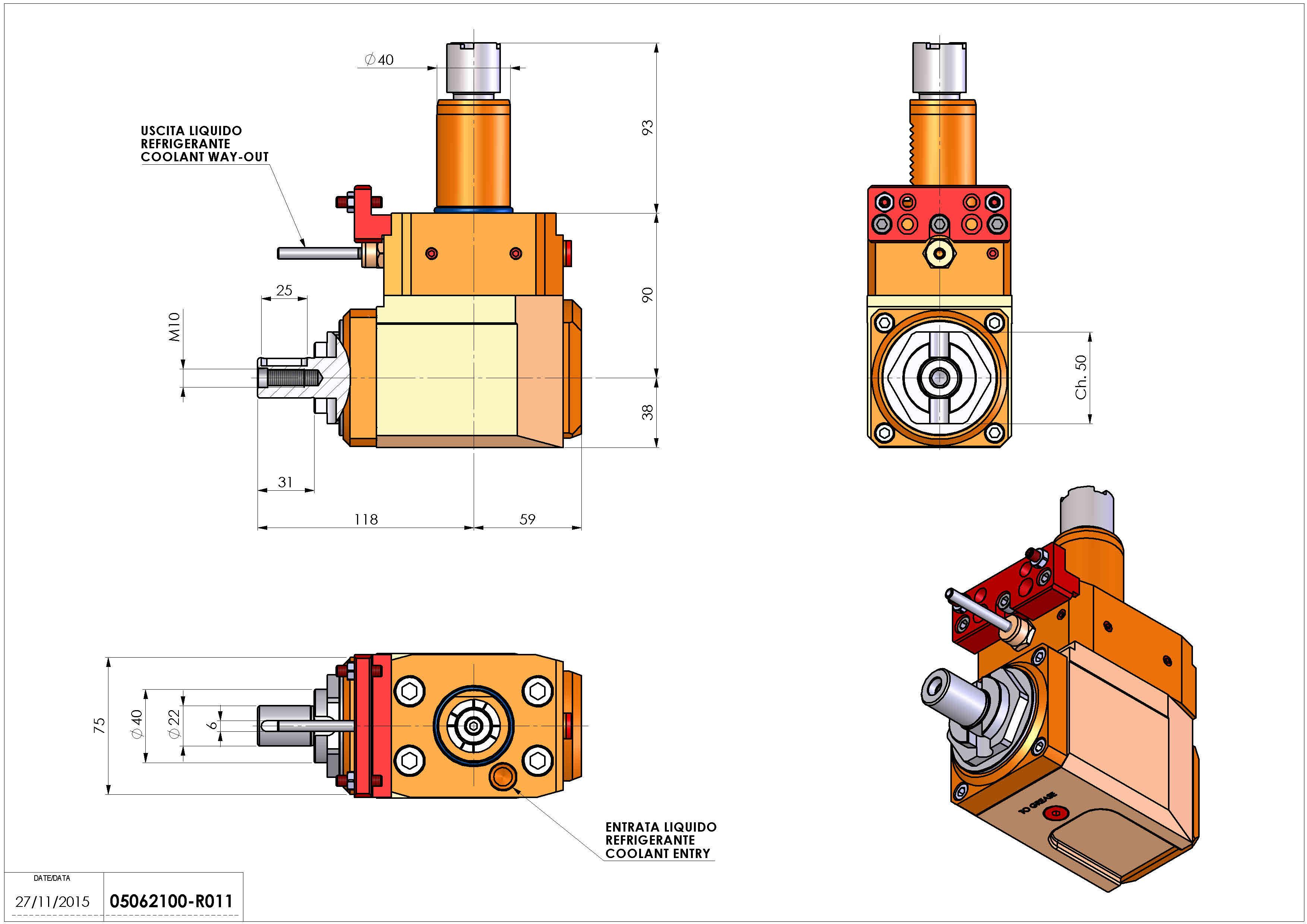 Technical image - LT-A VDI40 DIN138-22 L H90 OK.
