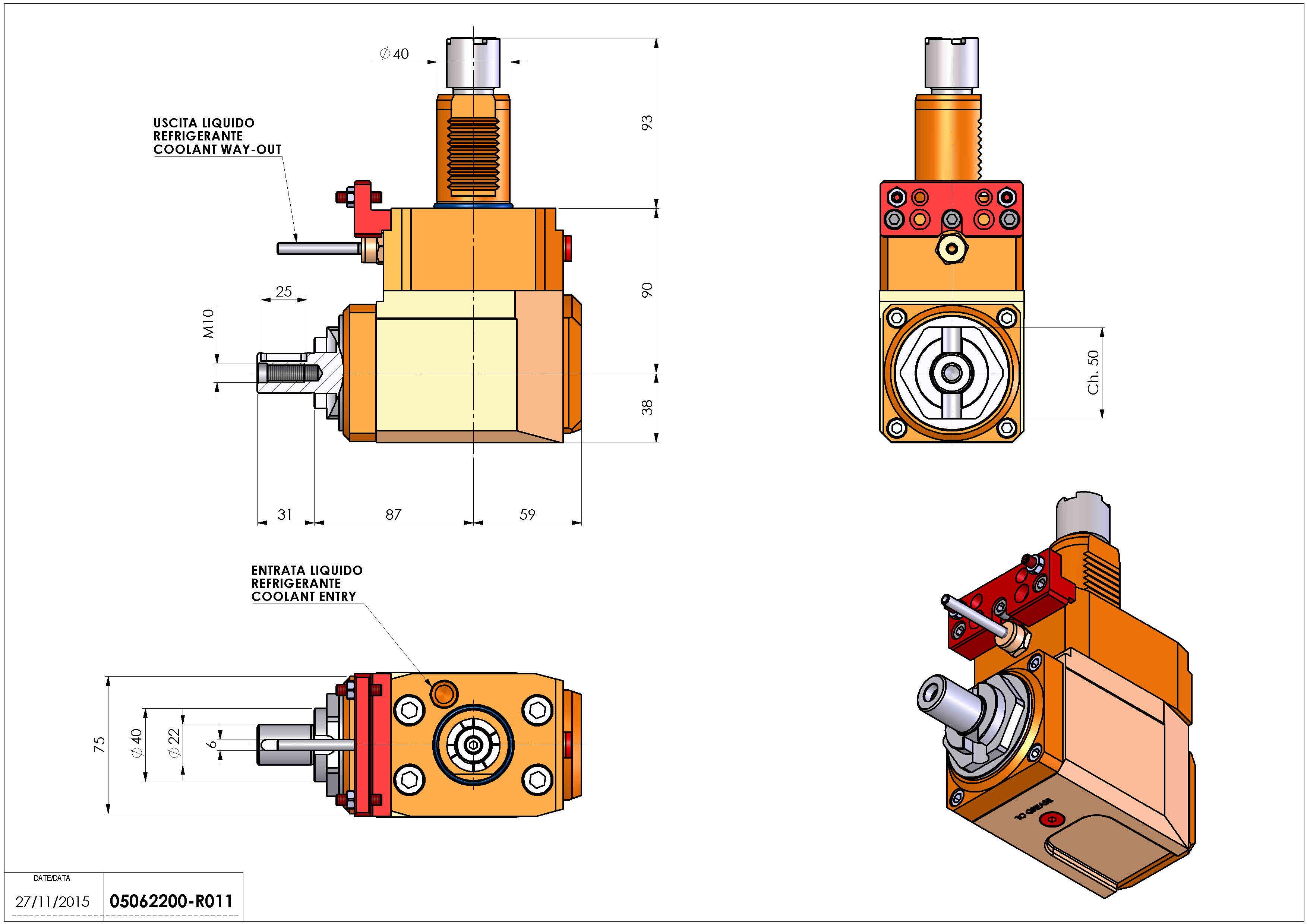 Technical image - LT-A VDI40 DIN138-22 R H90 OK.