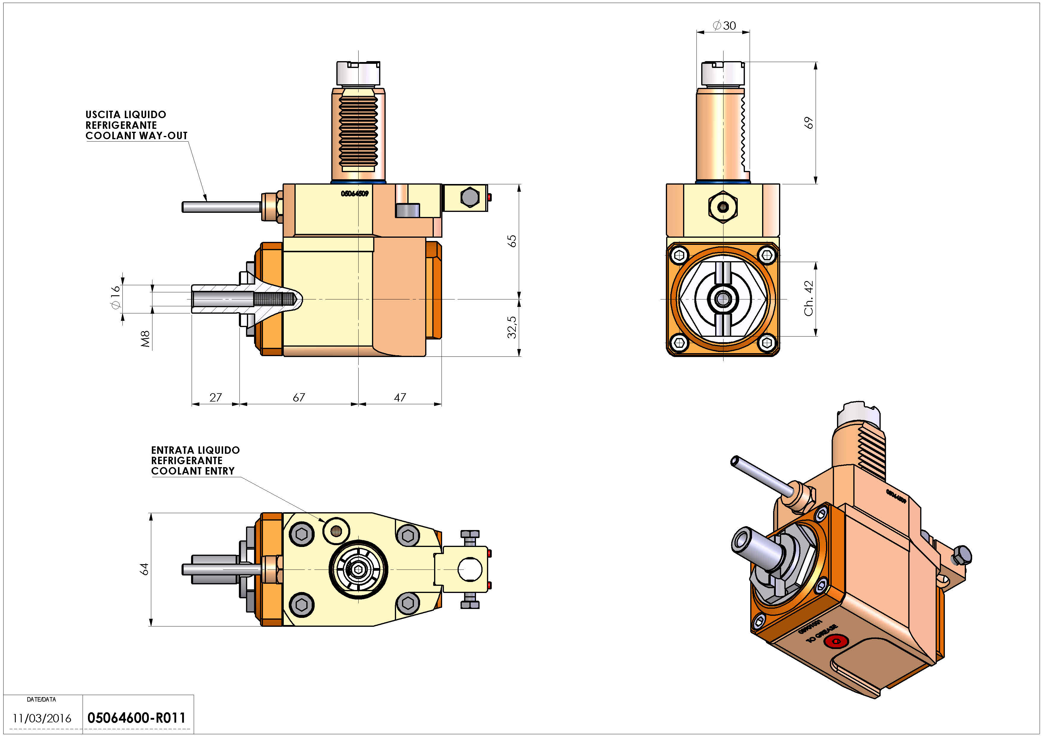 Technical image - LT-A VDI30 DIN138-16 R H65 OK.