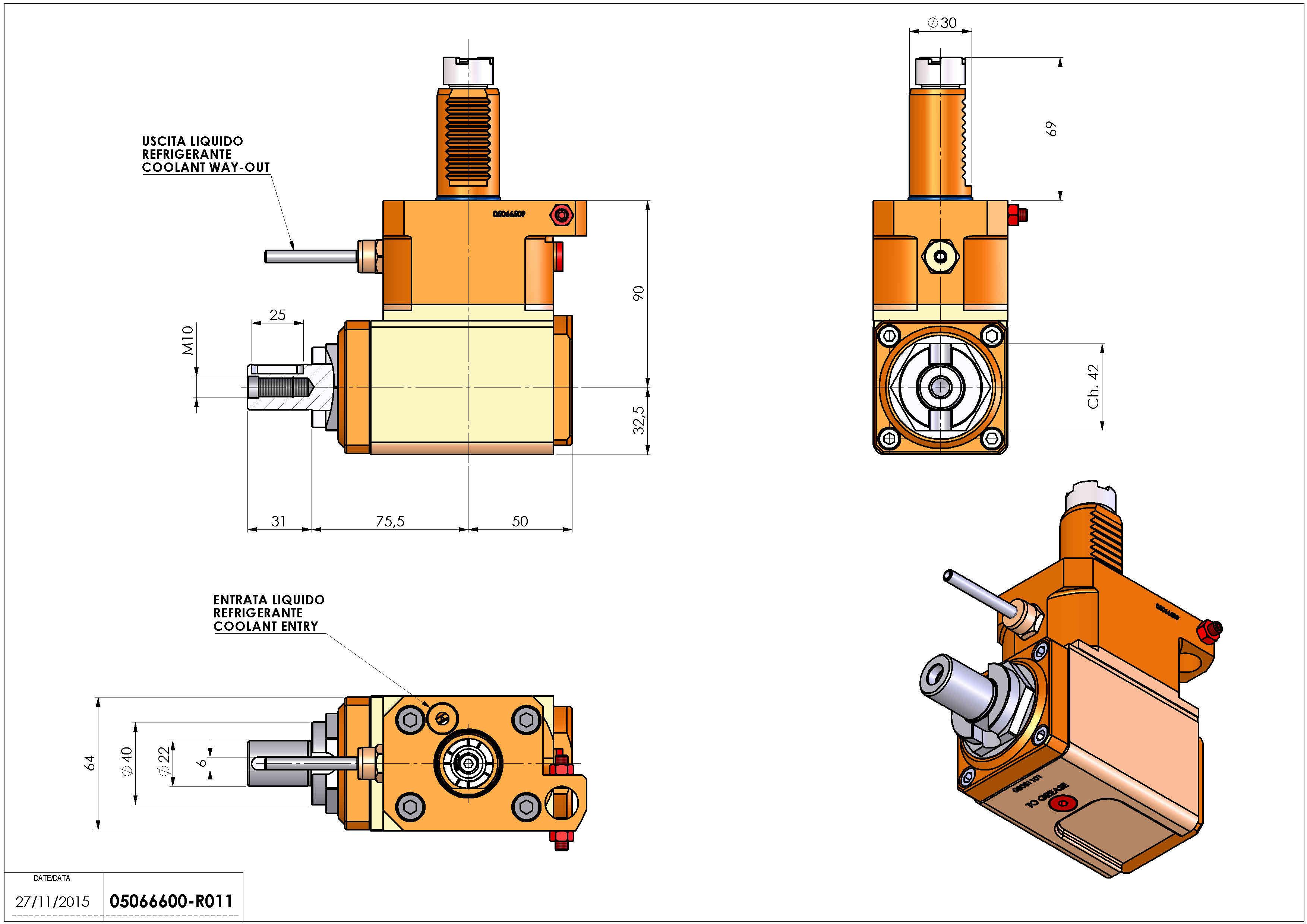 Technical image - LT-A VDI30 DIN138-22 R H90 OK.