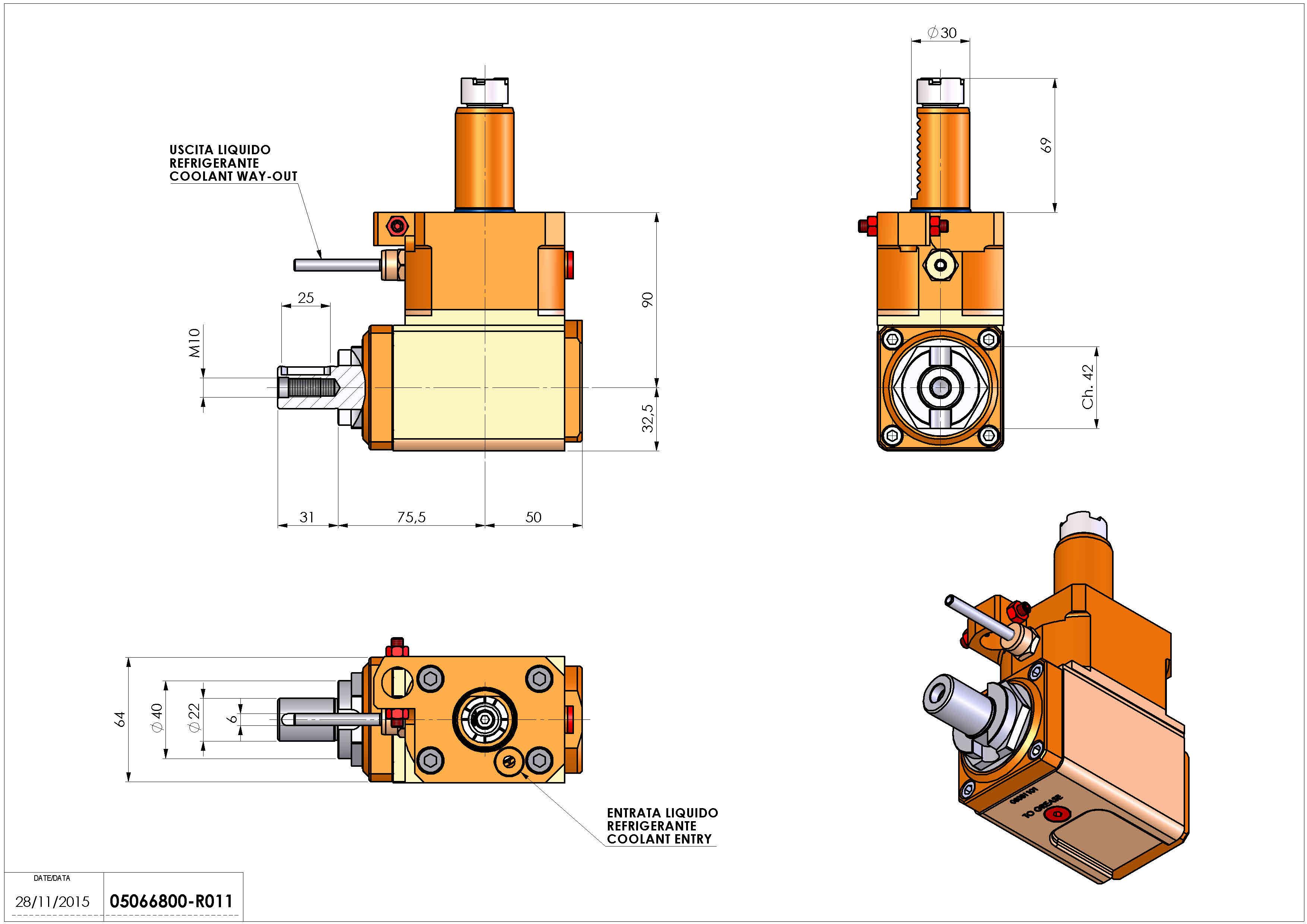 Technical image - LT-A VDI30 DIN138-22 L H90 OK.