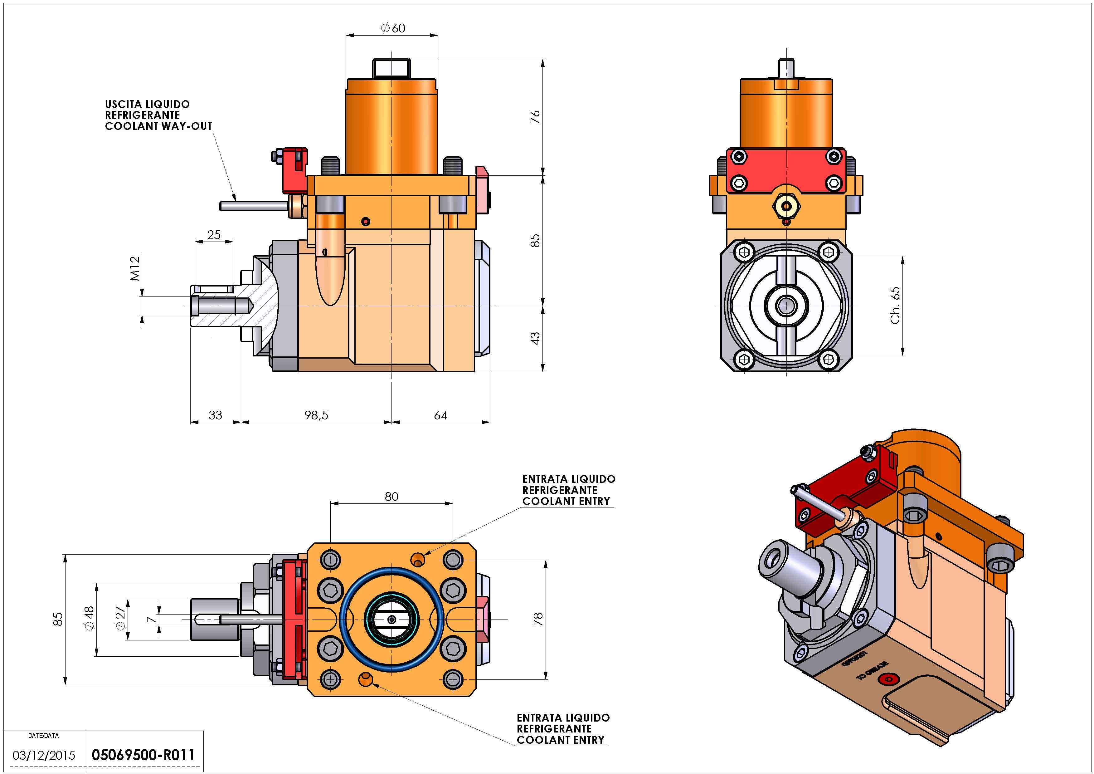 Technical image - LT-A D60 DIN138-27 H85 OK OKUMA LB-300 MW MWY.