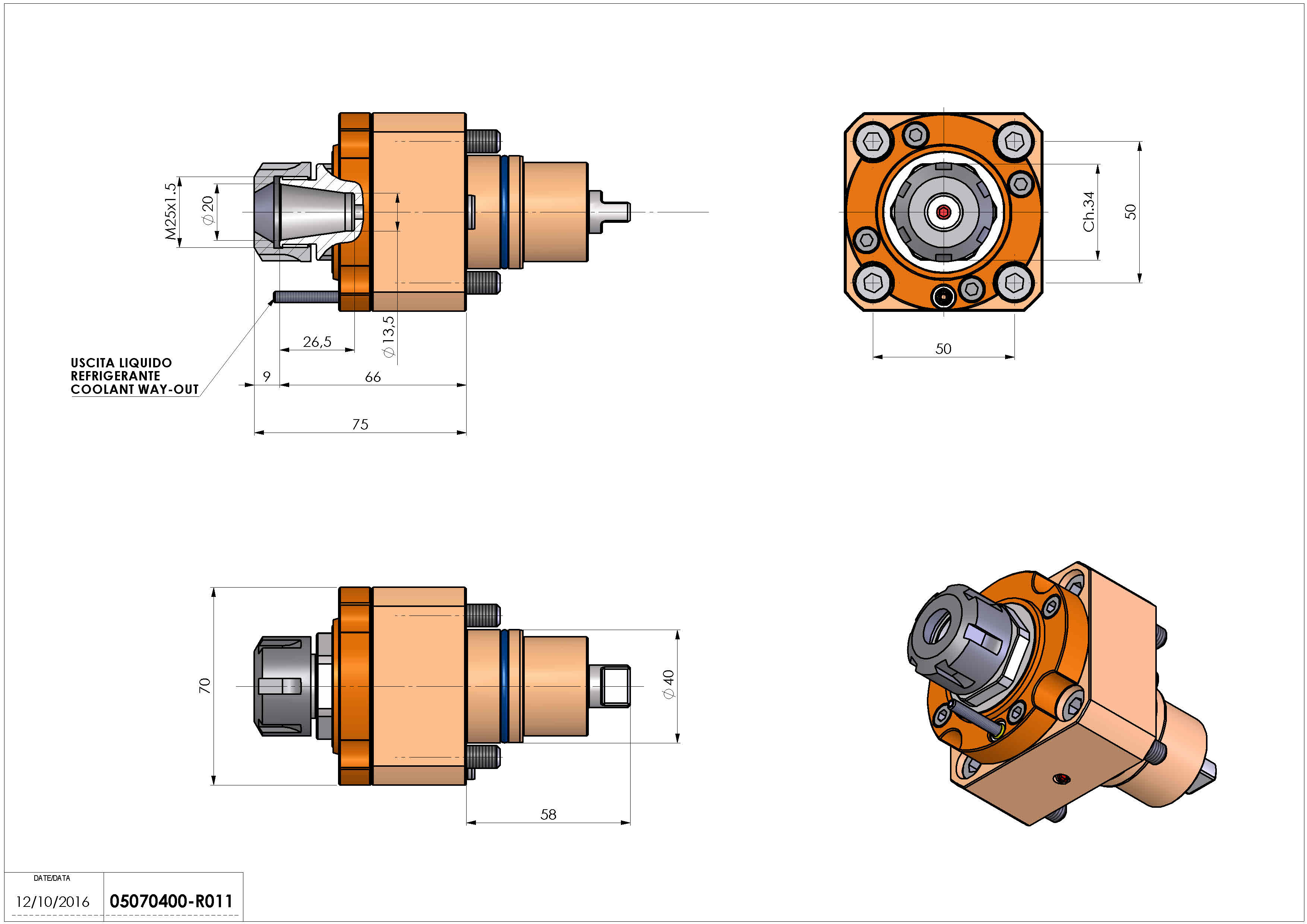 Technical image - LT-S D40 ER20 H75 BI.