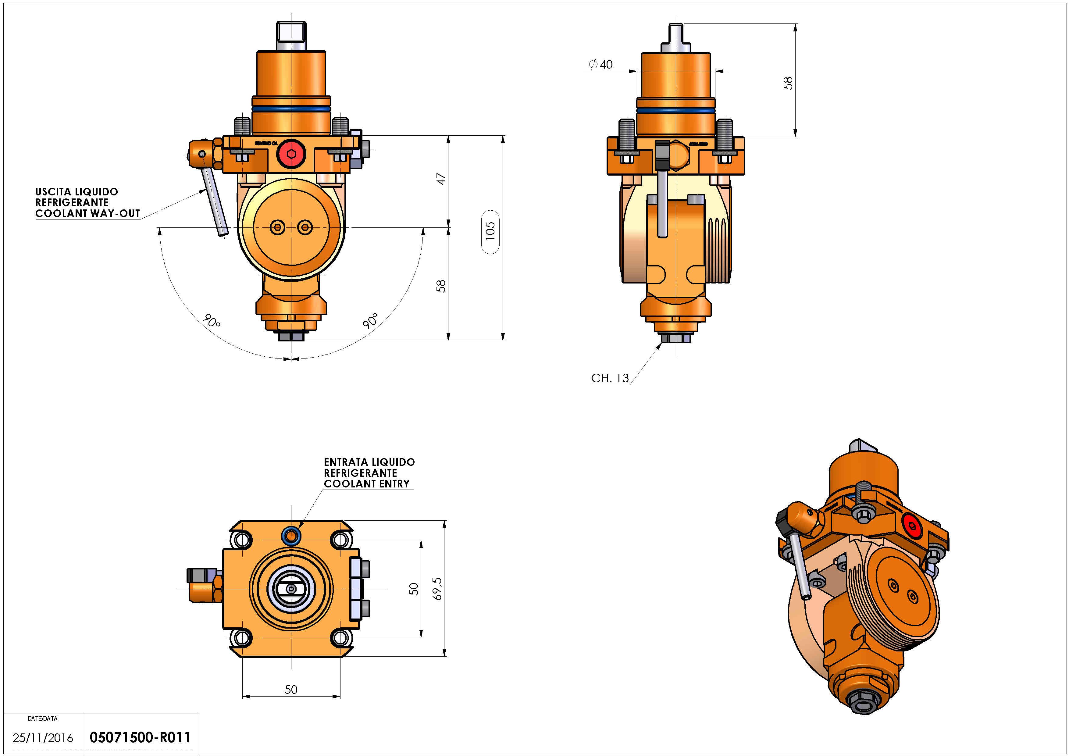 Technical image - LT-T D40 ER11F H47-105 BI.