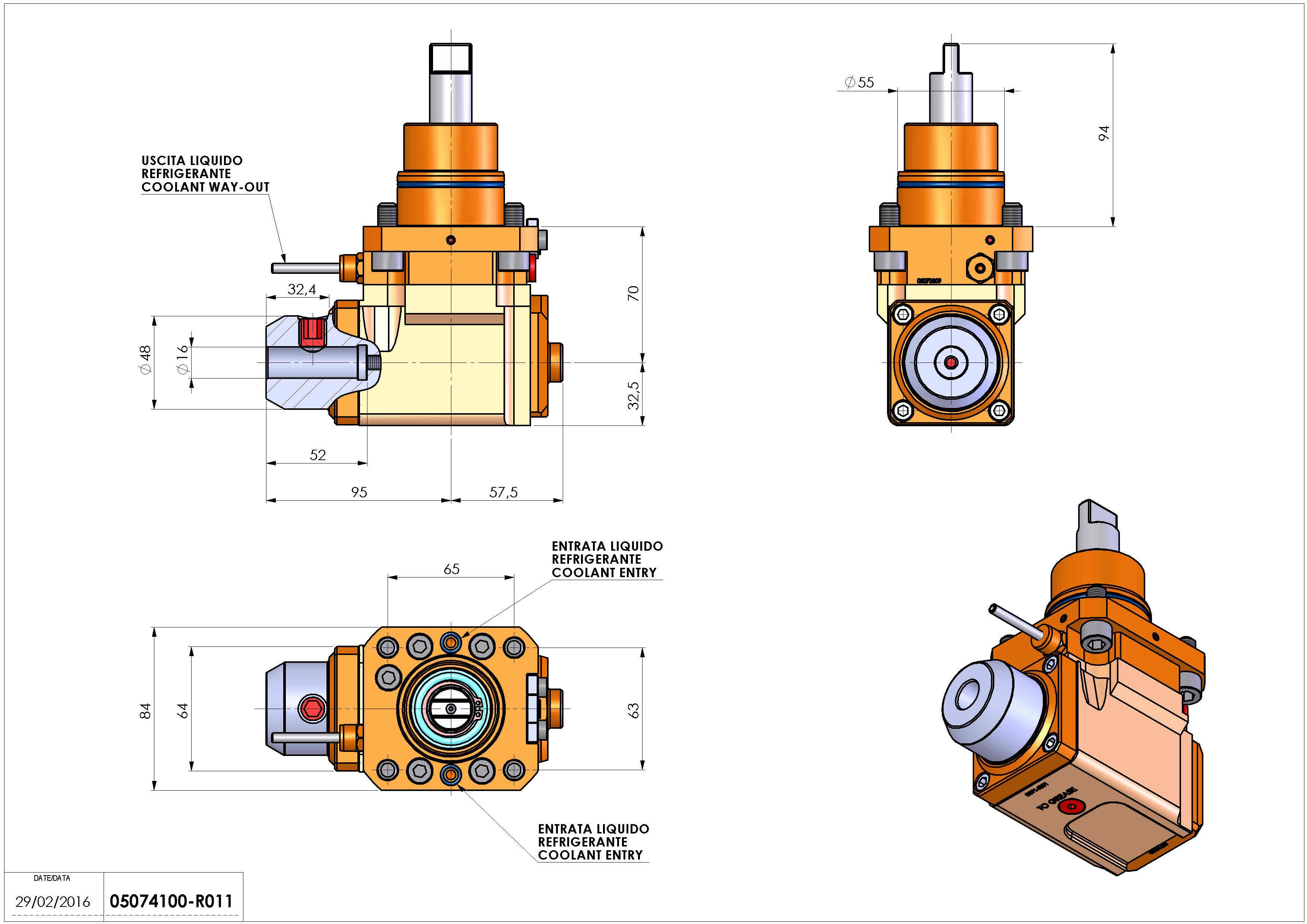 Technical image - LT-A D55 WELDON-16 LR H70 BI.
