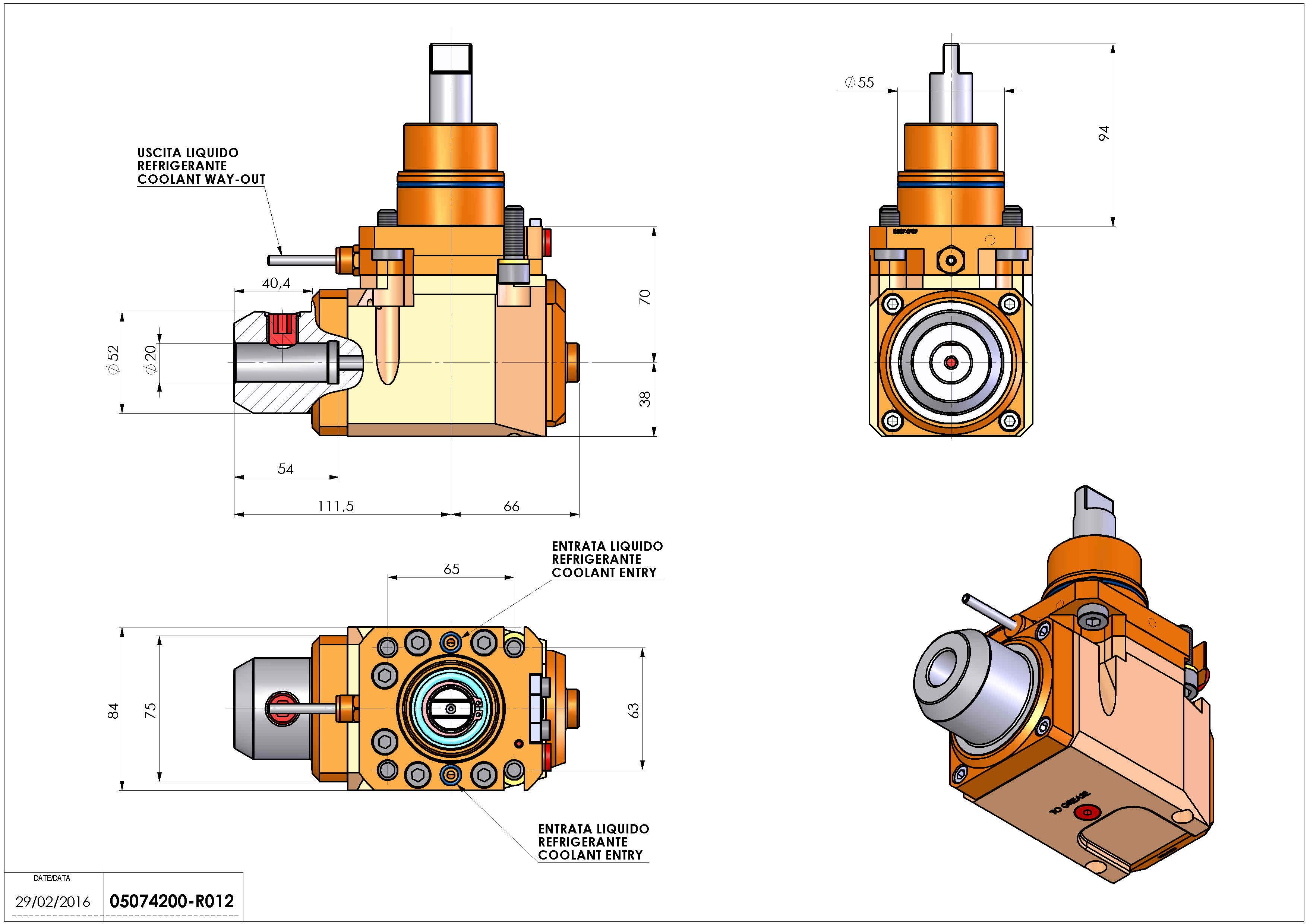 Technical image - LT-A D55 WELDON-20 LR H70 BI.