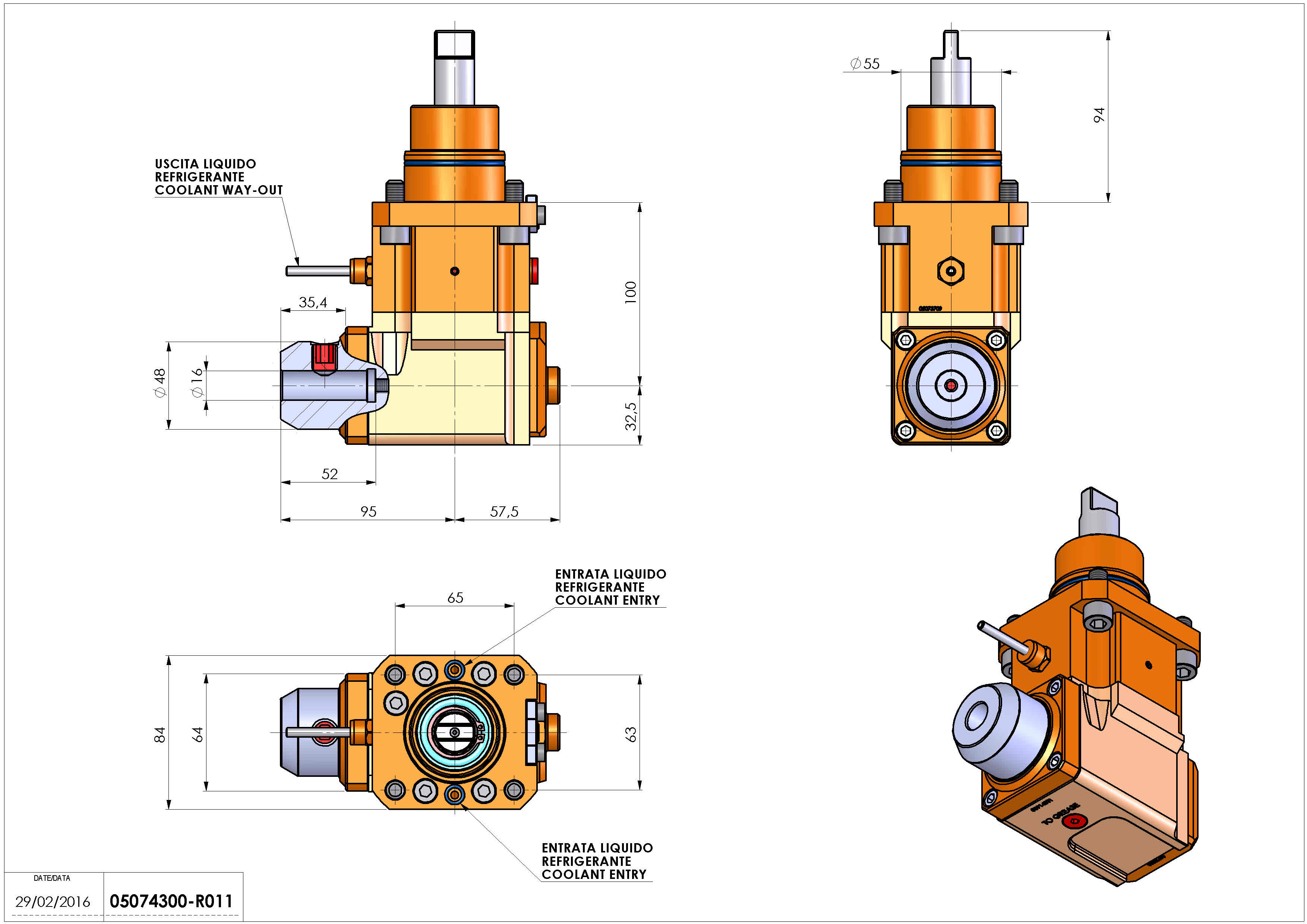 Technical image - LT-A D55 WELDON-16 LR H100 BI.