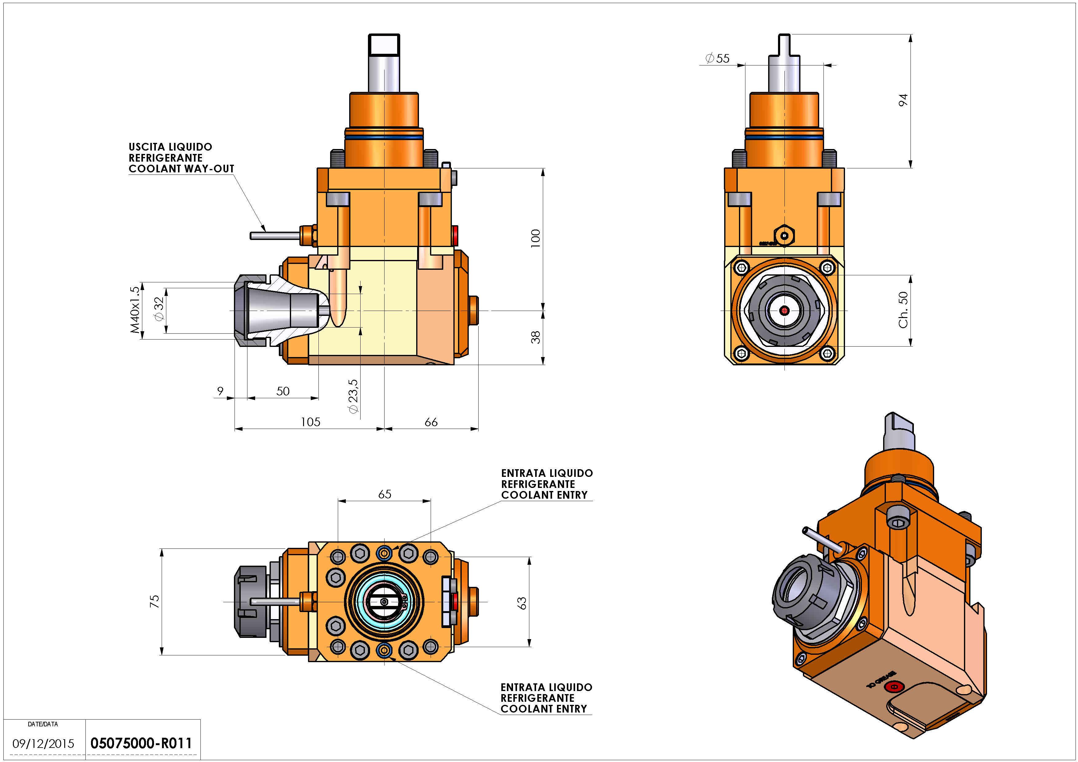 Technical image - LT-A D55 ER32 LR H100 BI.