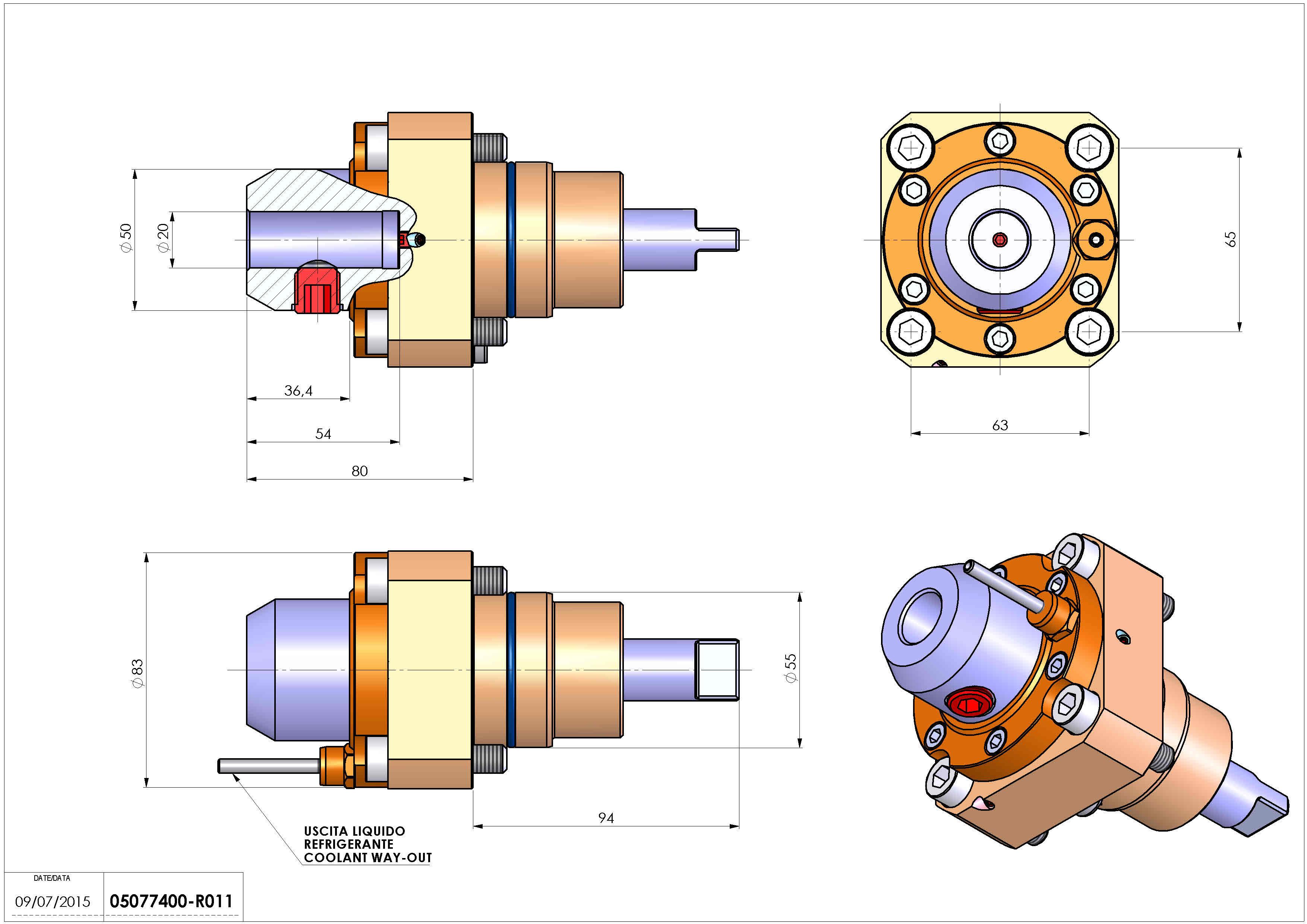 Technical image - LT-S D55 WELDON-20 H80.