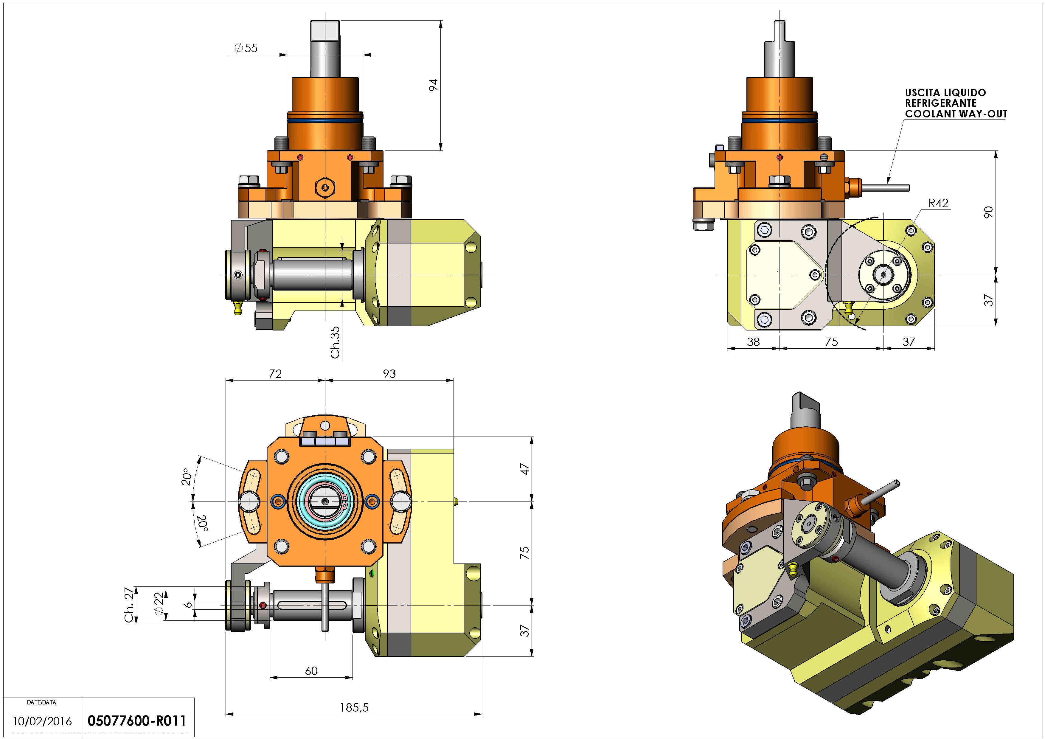 Technical image - LT-HOB-SAW D55 2.5:1 H90.