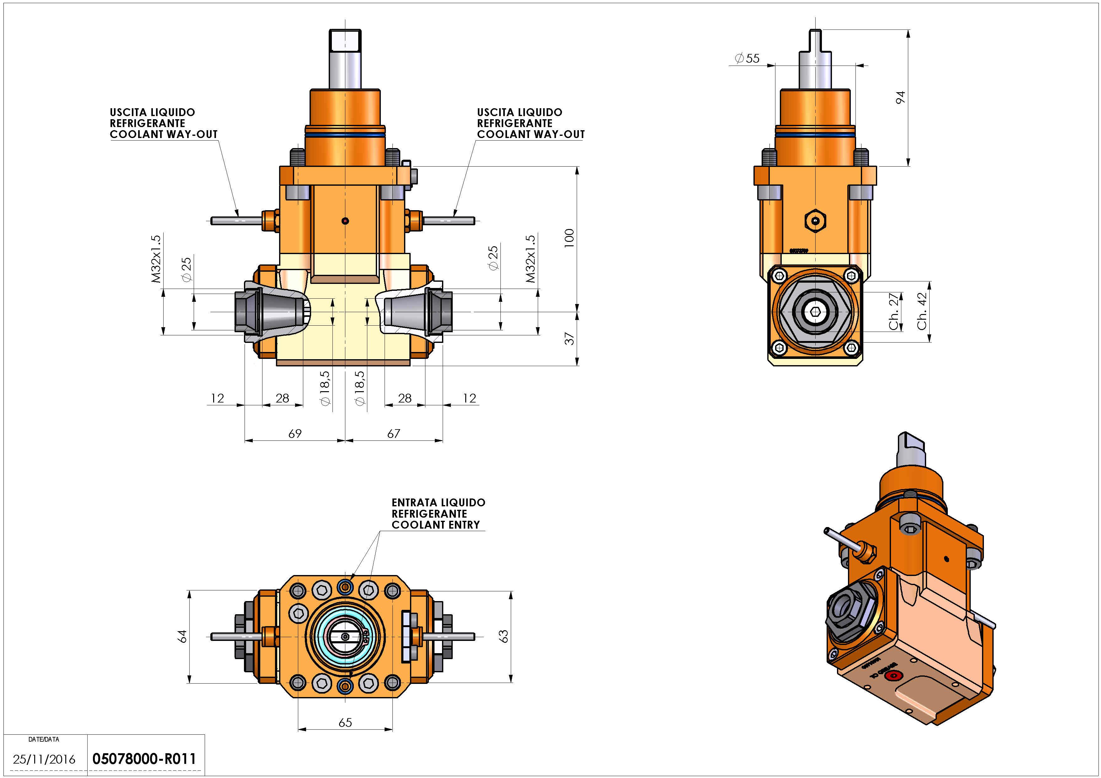 Technical image - LT-A D55 ER25F-25F H100 BI.
