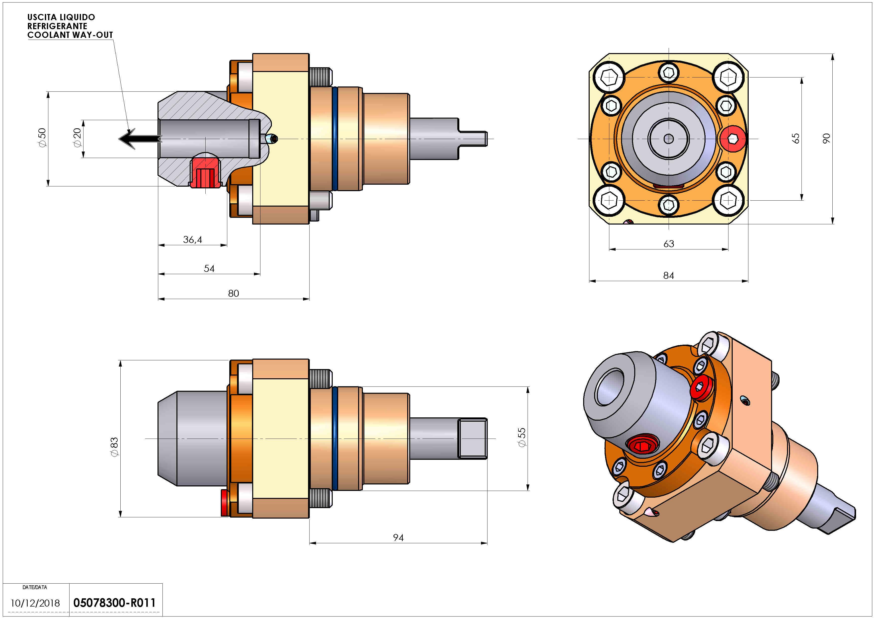 Technical image - LT-S D55 WELDON 20 RF H80.