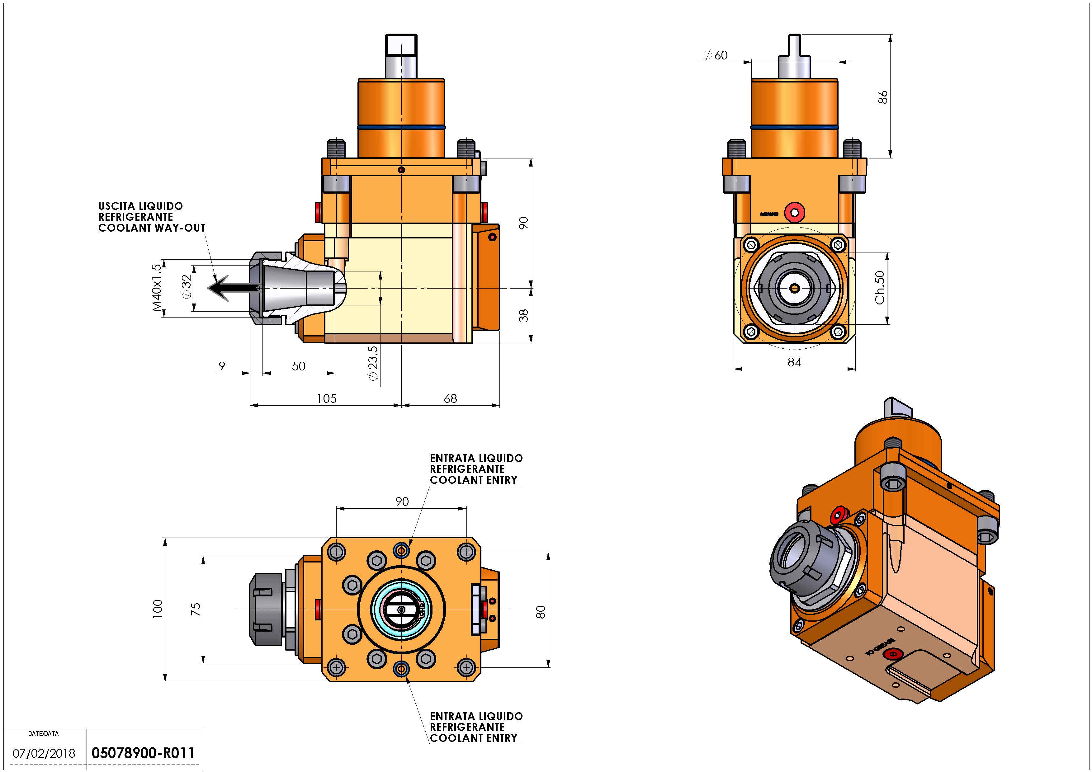 Technical image - LT-A D60 ER32 LR RF H90.