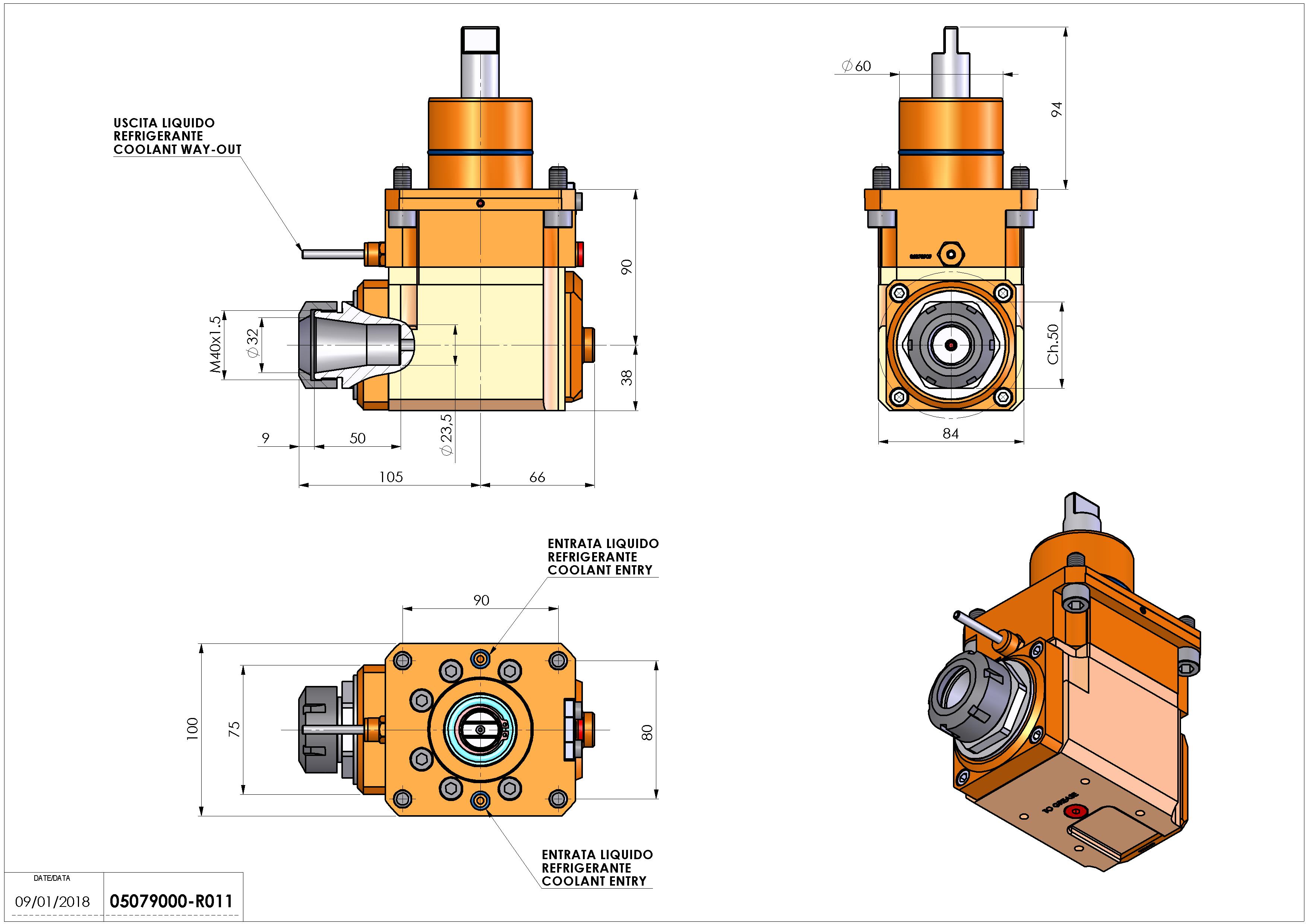 Technical image - LT-A D60 ER32 LR H90.