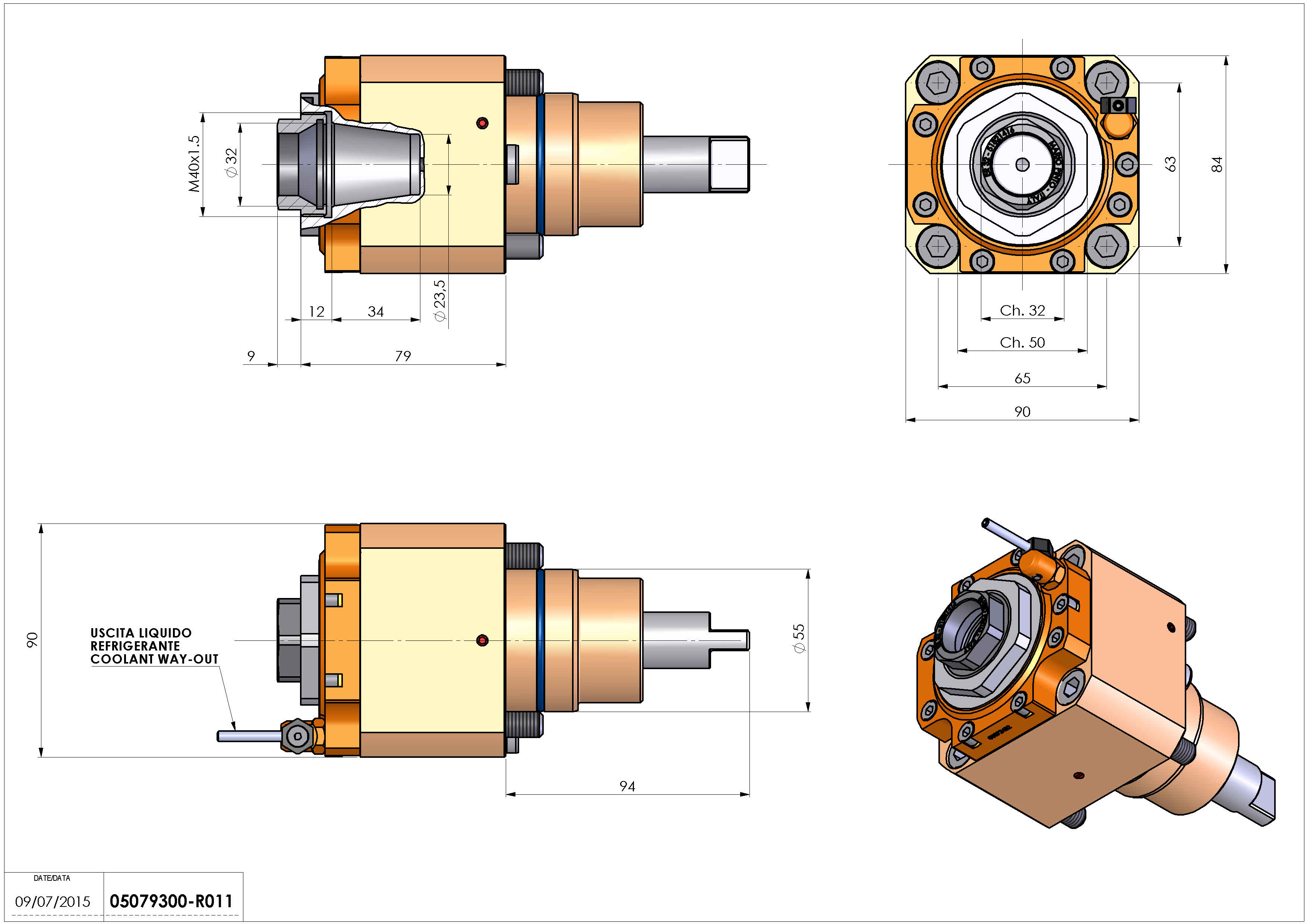 Technical image - LT-S D55 ER32F H75.