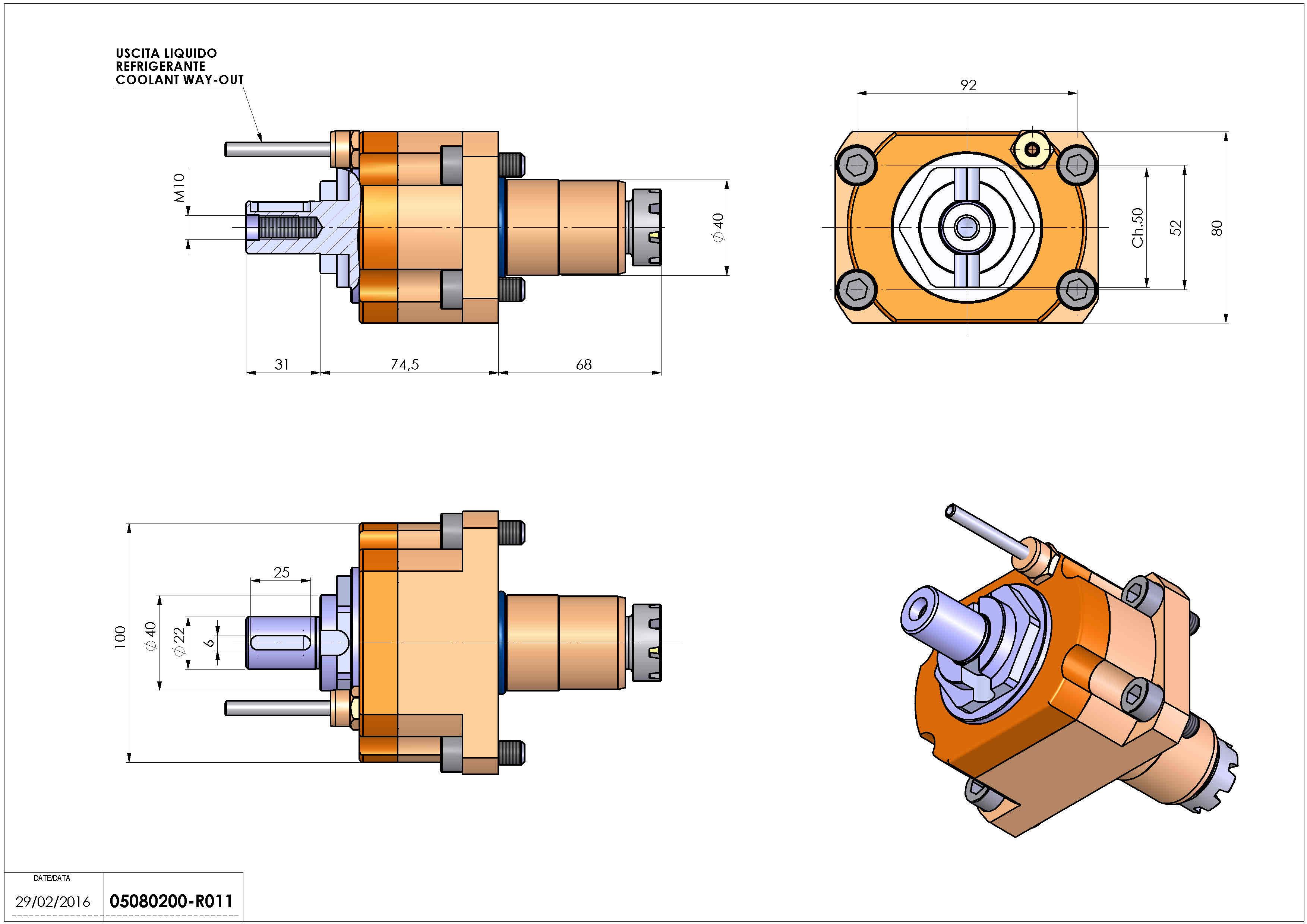 Technical image - LT-S D40 DIN138-22 H74 AN.