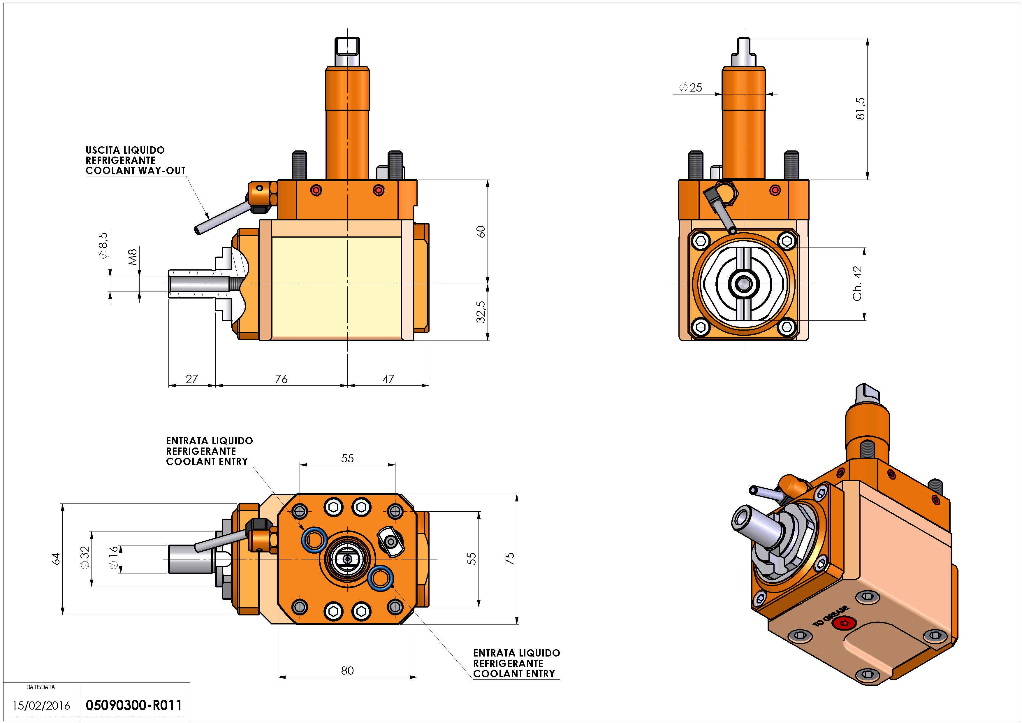 Technical image - LT-A D25 DIN138-16 L-R H60 RO.