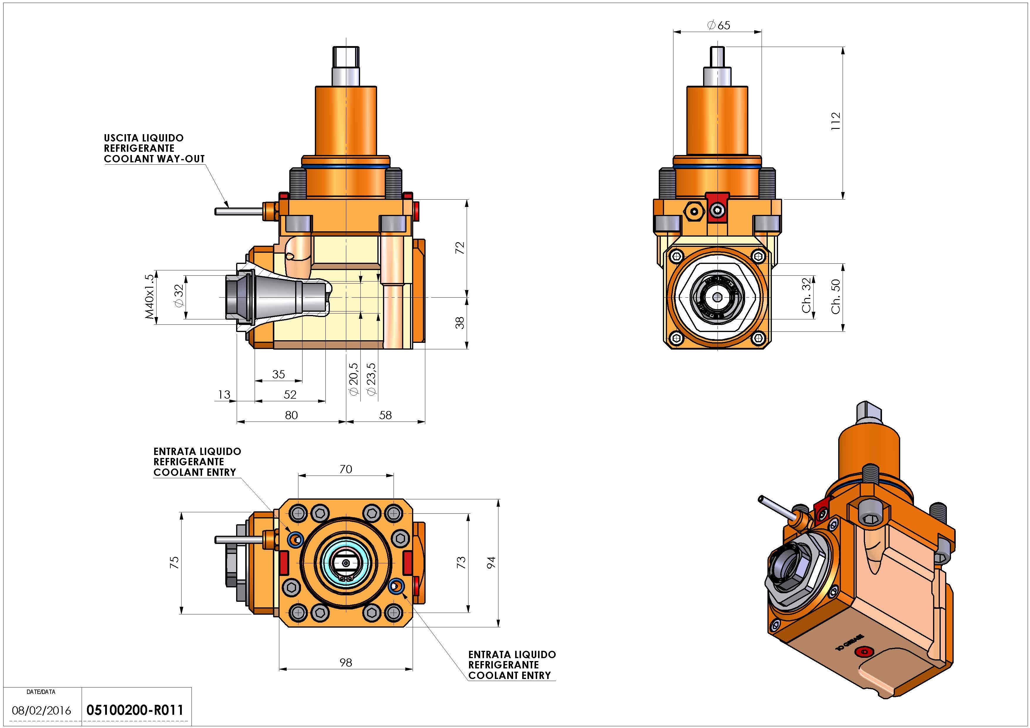 Technical image - LT-A BMT65 ER32F LR H72.