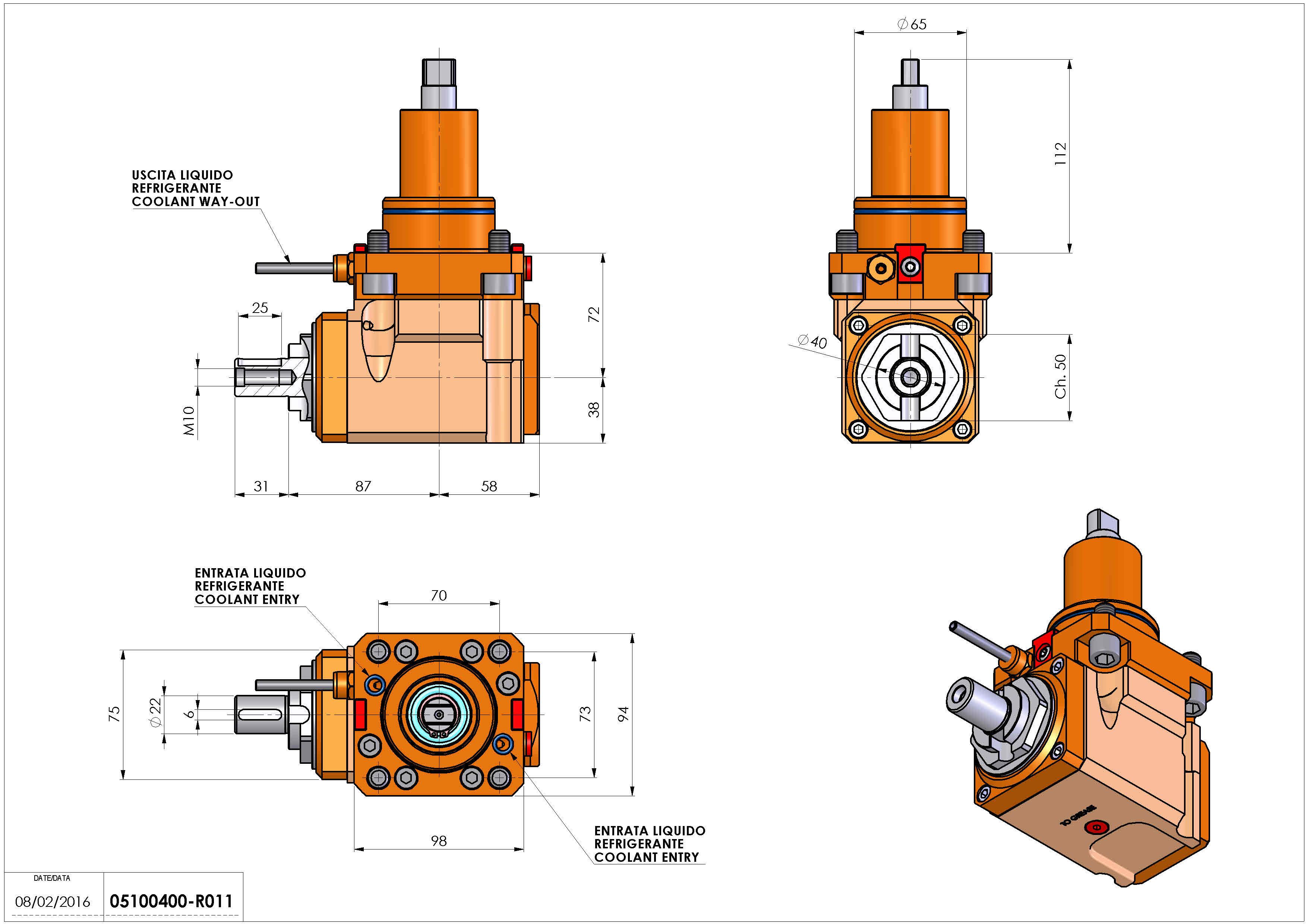 Technical image - LT-A BMT65 DIN-22 L-R H72 K-W.