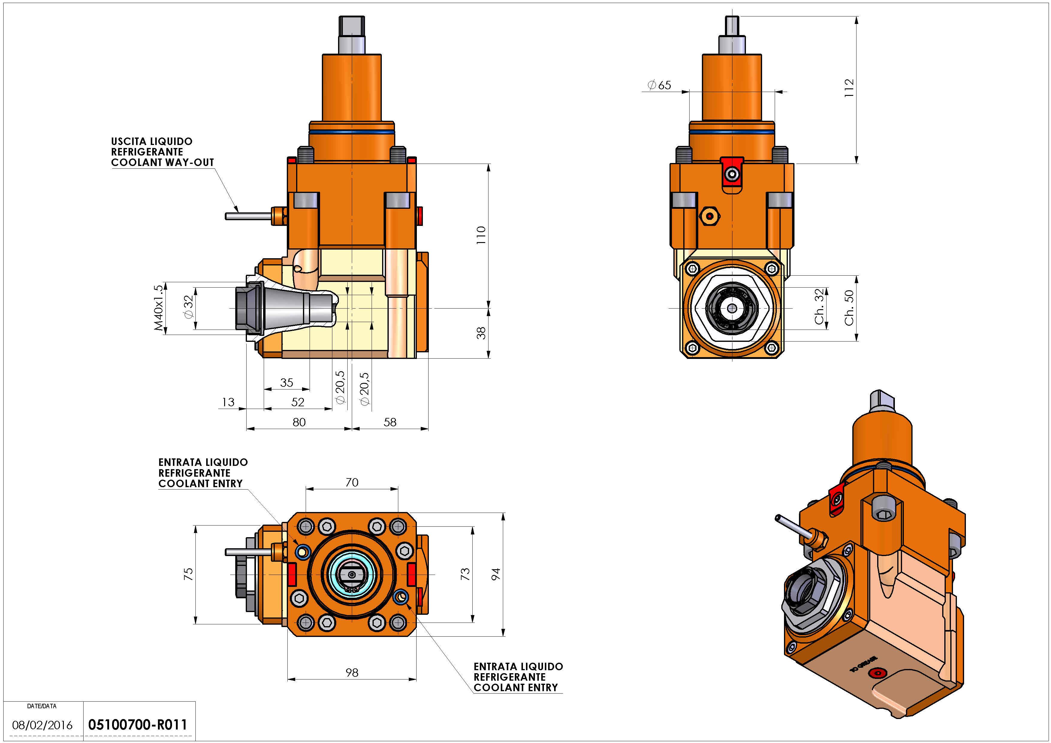 Technical image - LT-A BMT65 ER32F LR H110.