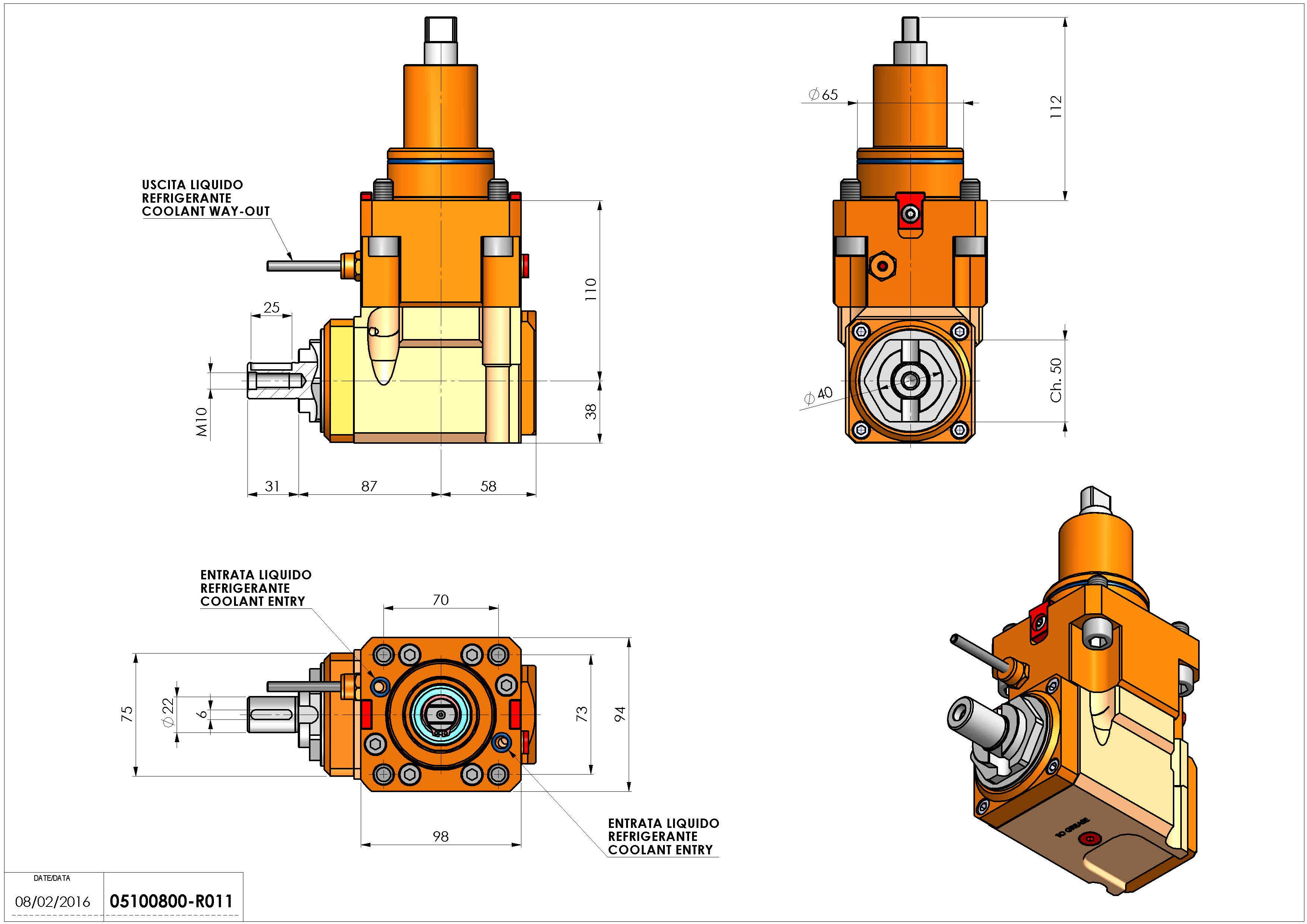 Technical image - LT-A BMT65 DIN-22 L-R H110 K-W.