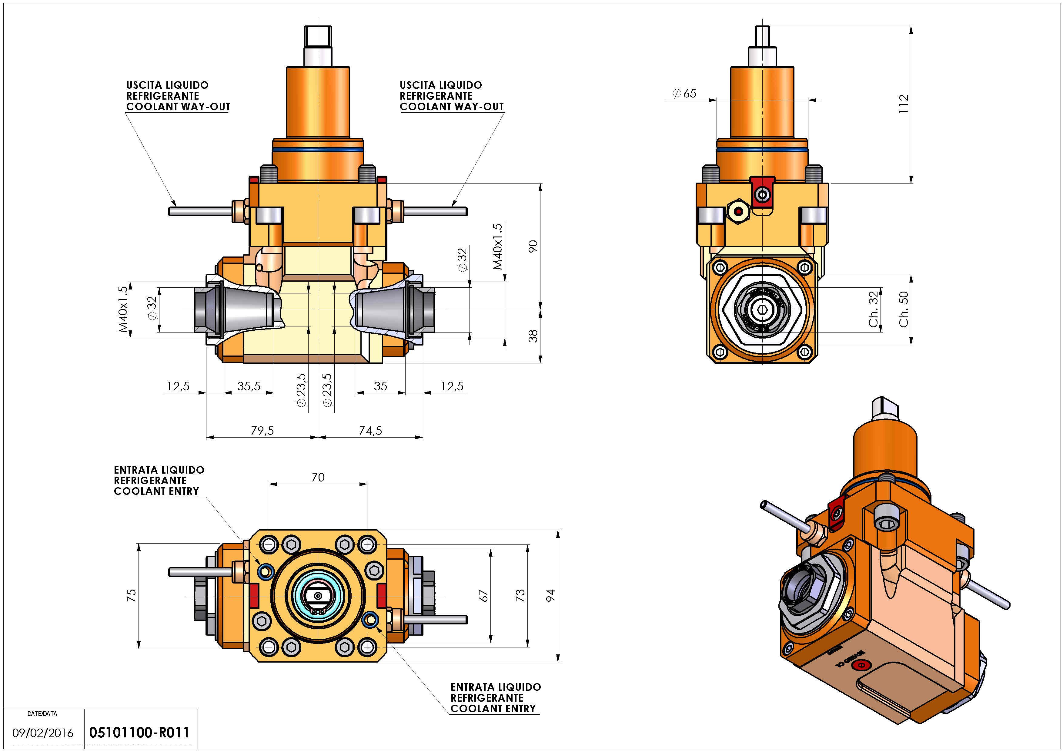 Technical image - LT-A BMT65 ER32F-32F H90 K-W.