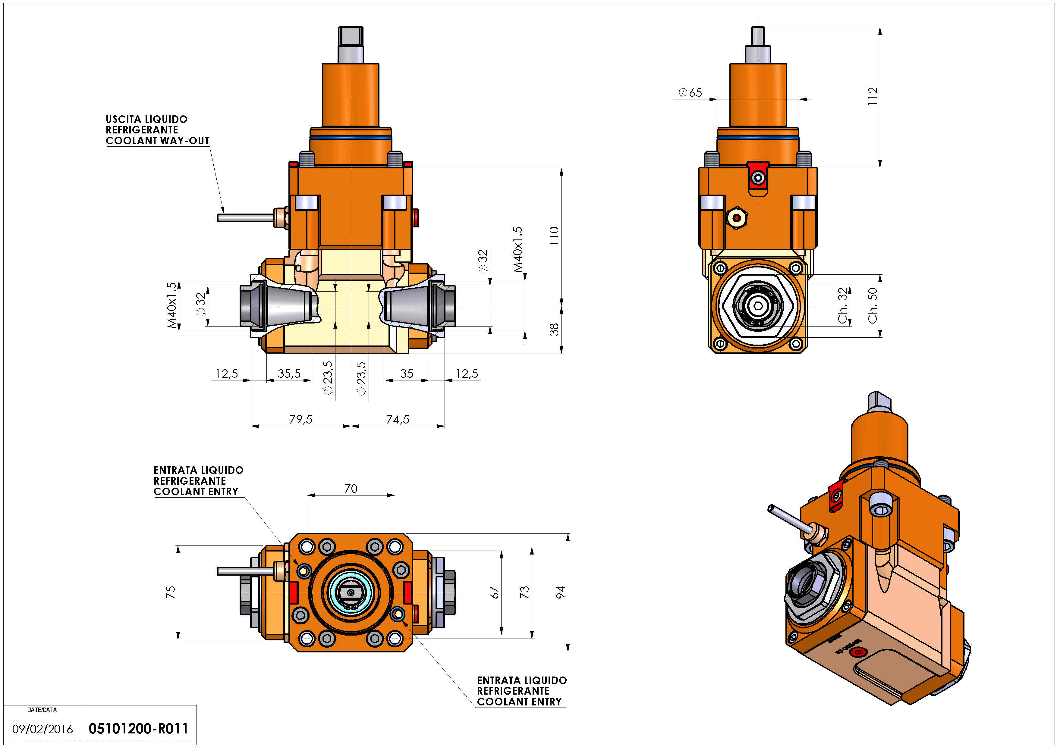 Technical image - LT-A BMT65 ER32F-32F H110 K-W.
