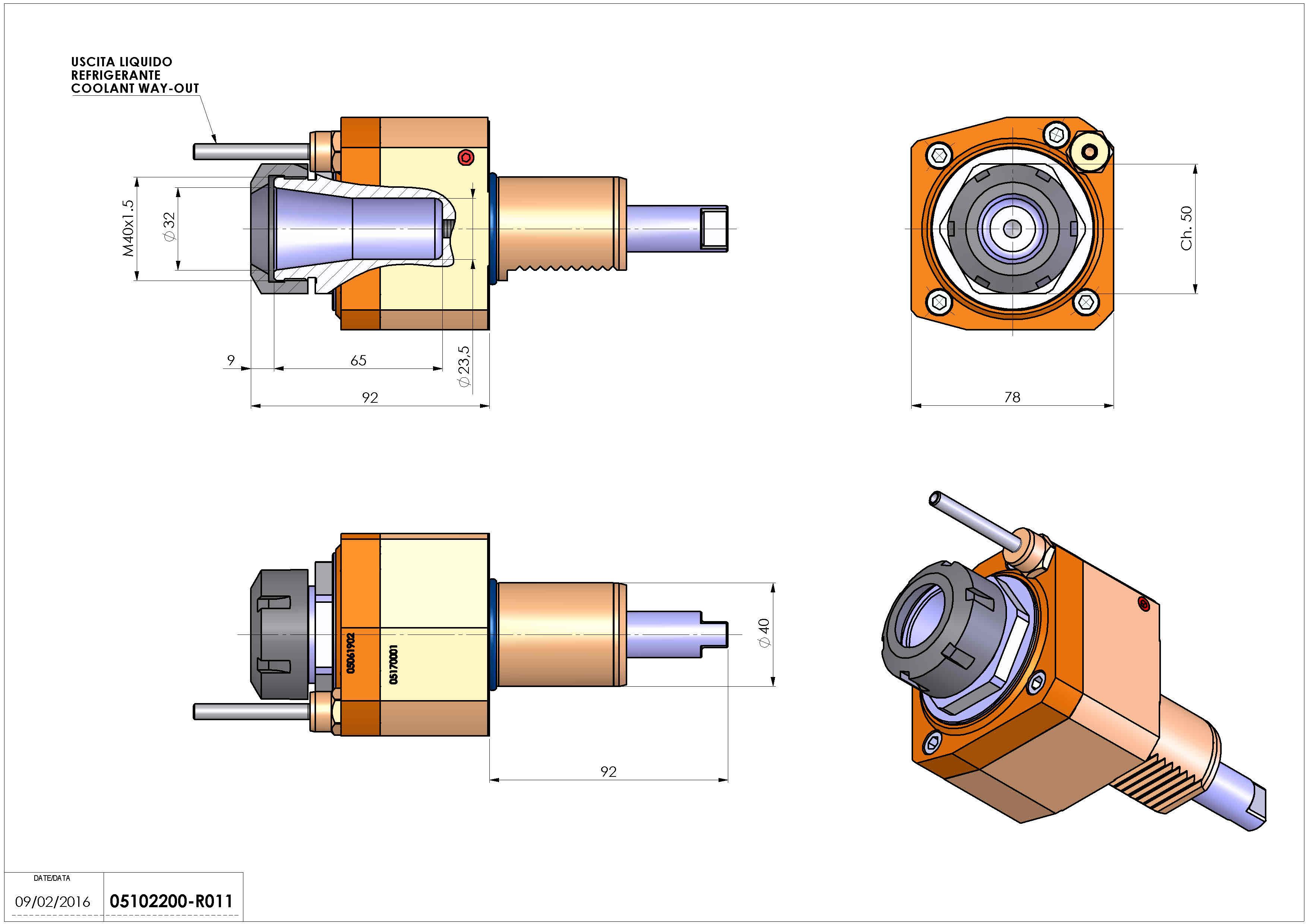 Technical image - LT-S VDI40 ER32 H83 HW.