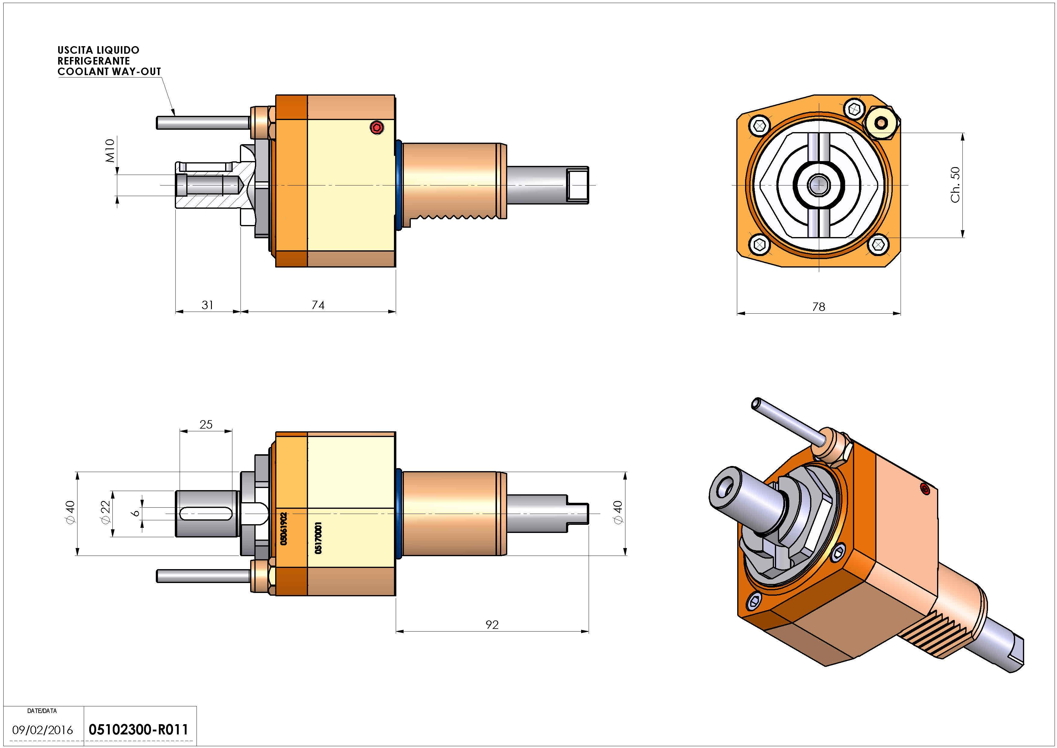 Technical image - LT-S VDI40 DIN138-22 H74 HW.