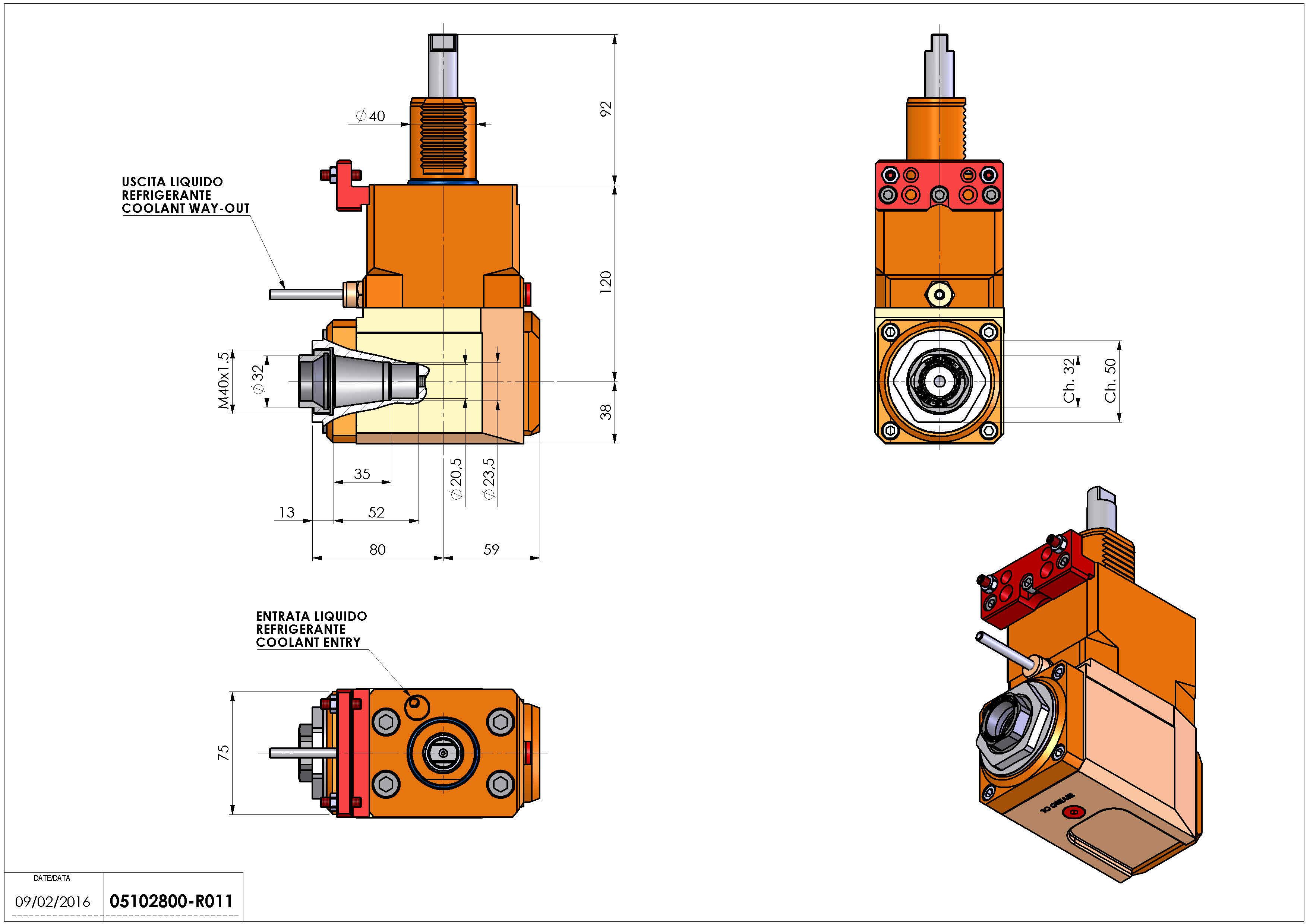 Technical image - LT-A VDI40 ER32F R H120 HW.