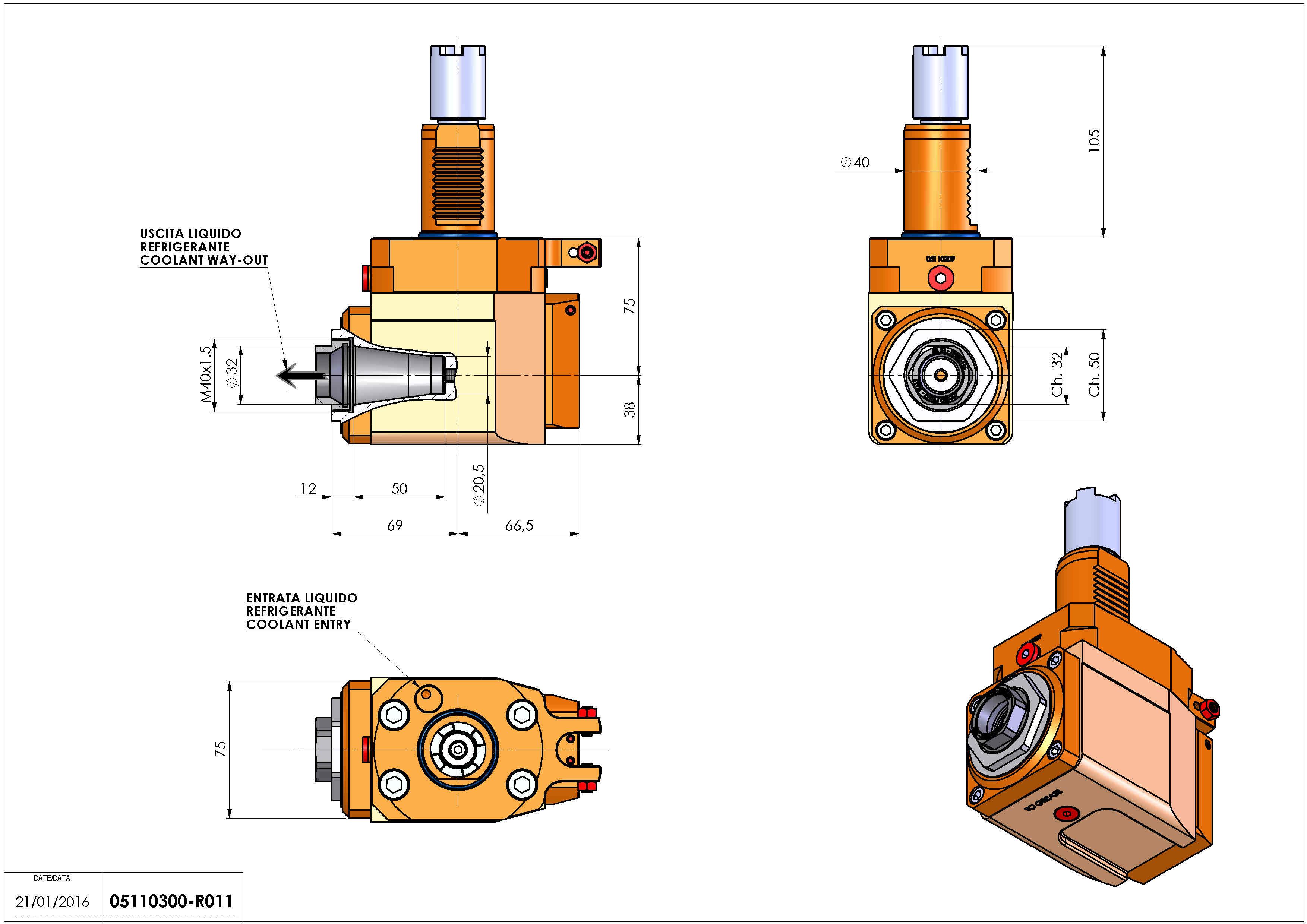 Technical image - LT-A VDI40 ER32F R RF H75 HA.