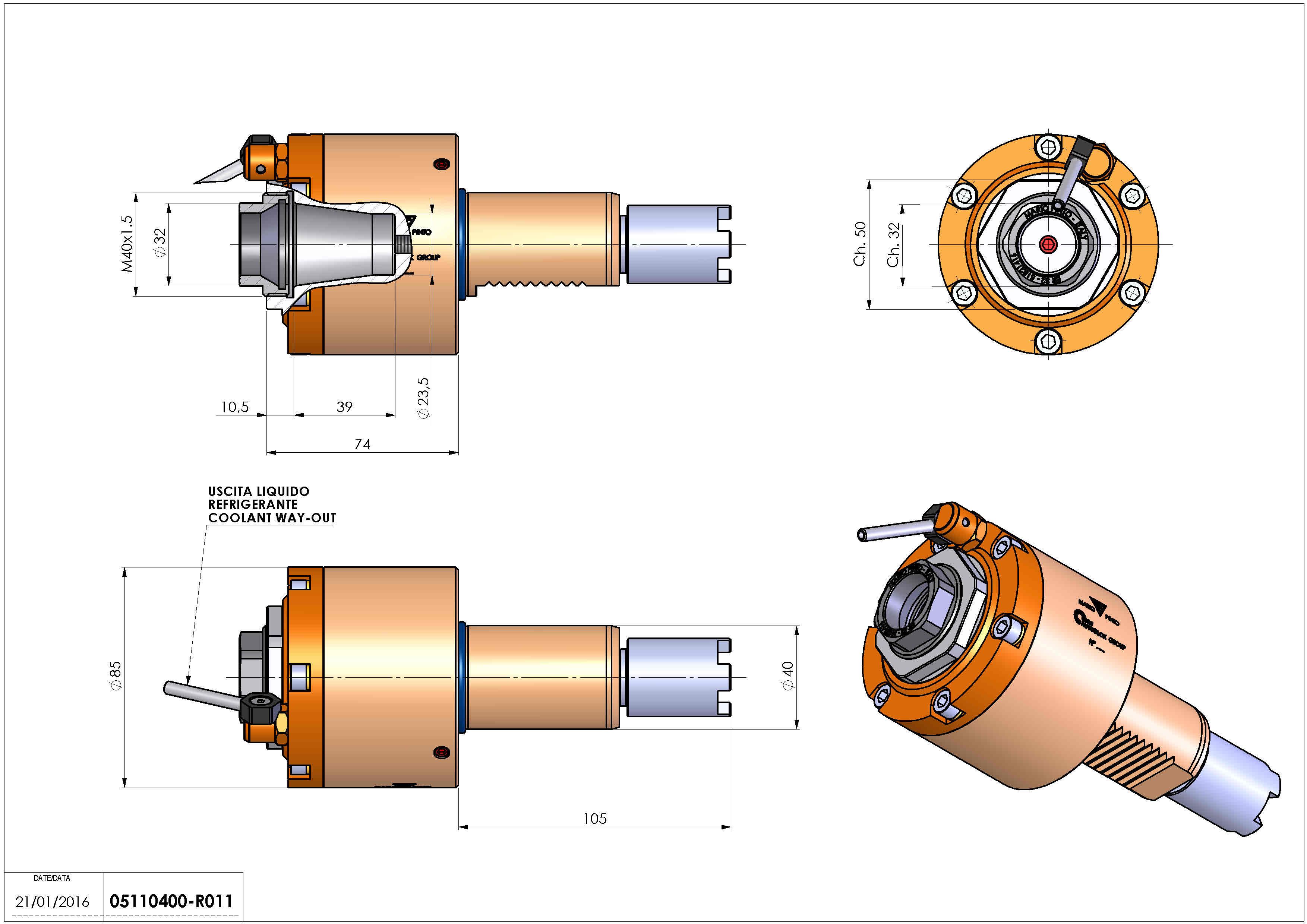 Technical image - LT-S VDI40 ER32F H74 105 HA.