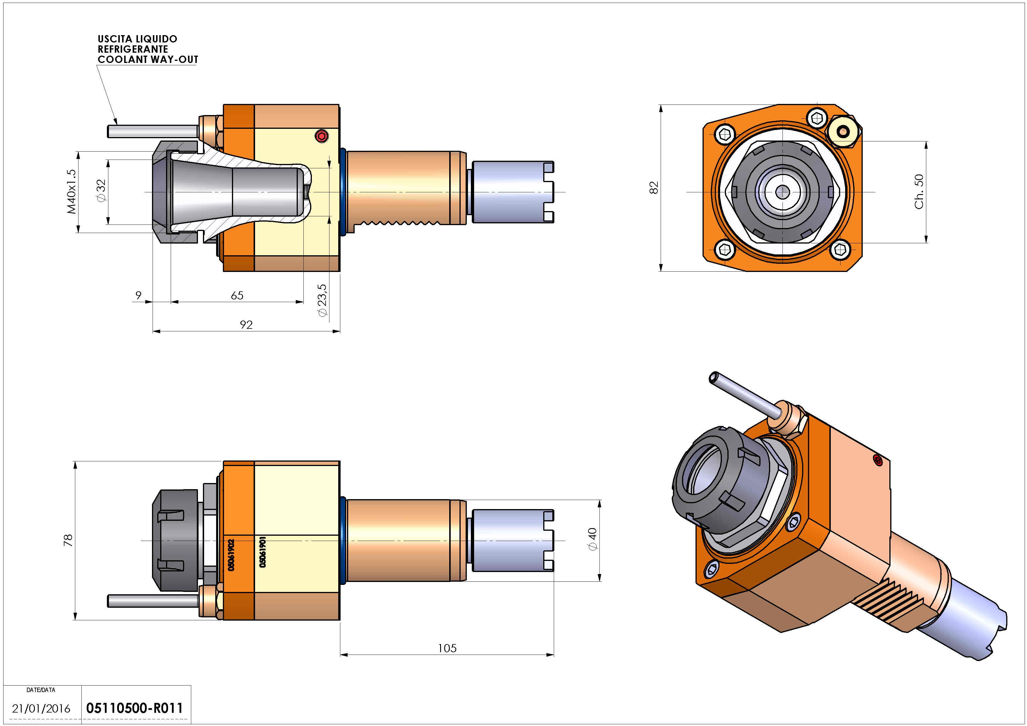 Technical image - LT-S VDI40 ER32 H83 HA.