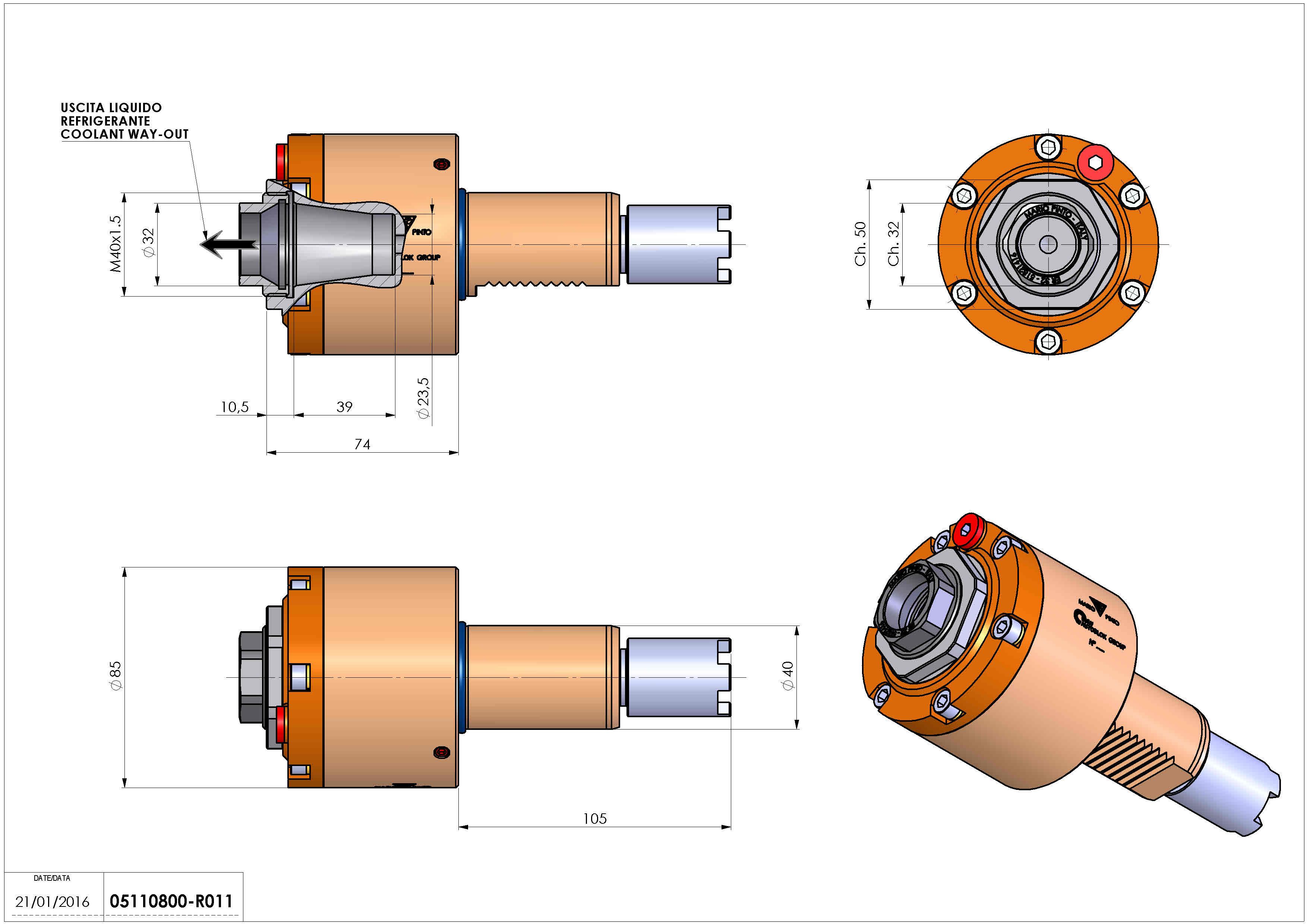Technical image - LT-S VDI40 ER32F RF H74 105 HA.