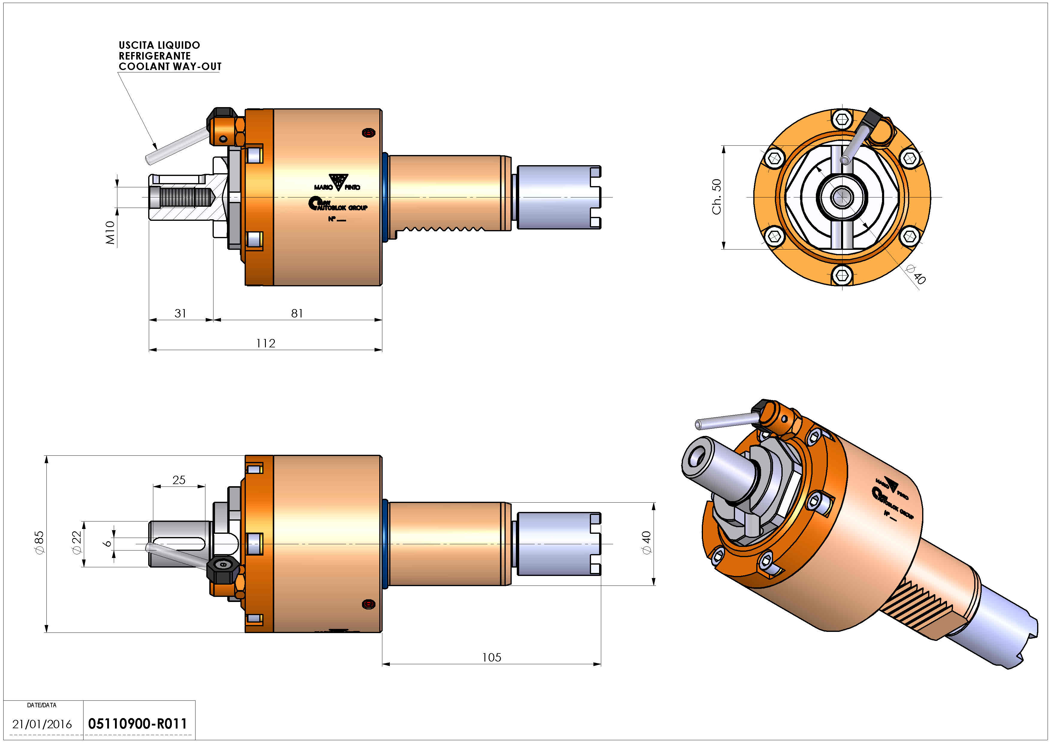 Technical image - LT-S VDI40 DIN22 H81 105 HA.