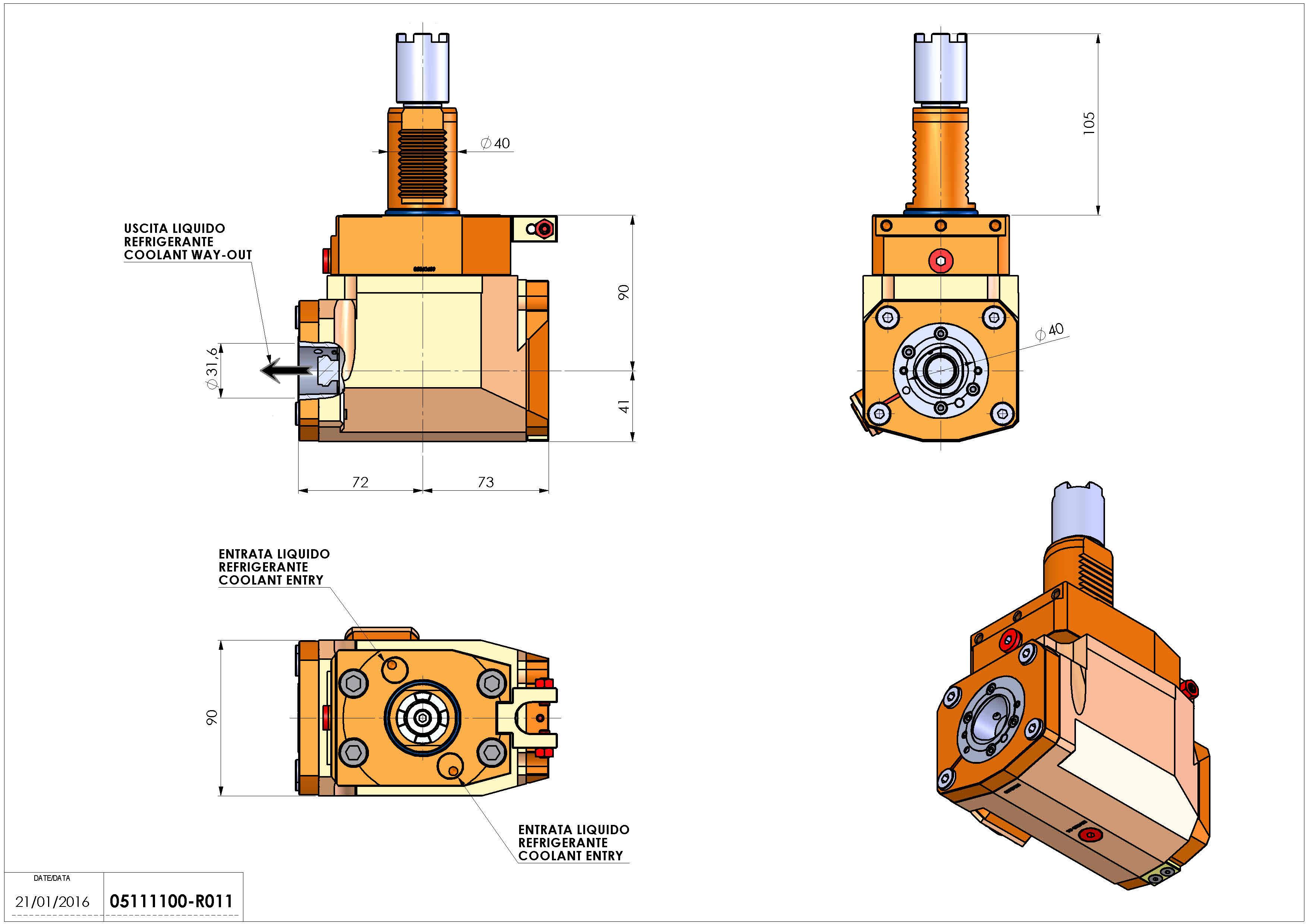 Technical image - LT-A VDI40 C4 RFH-PR H90-105HA.