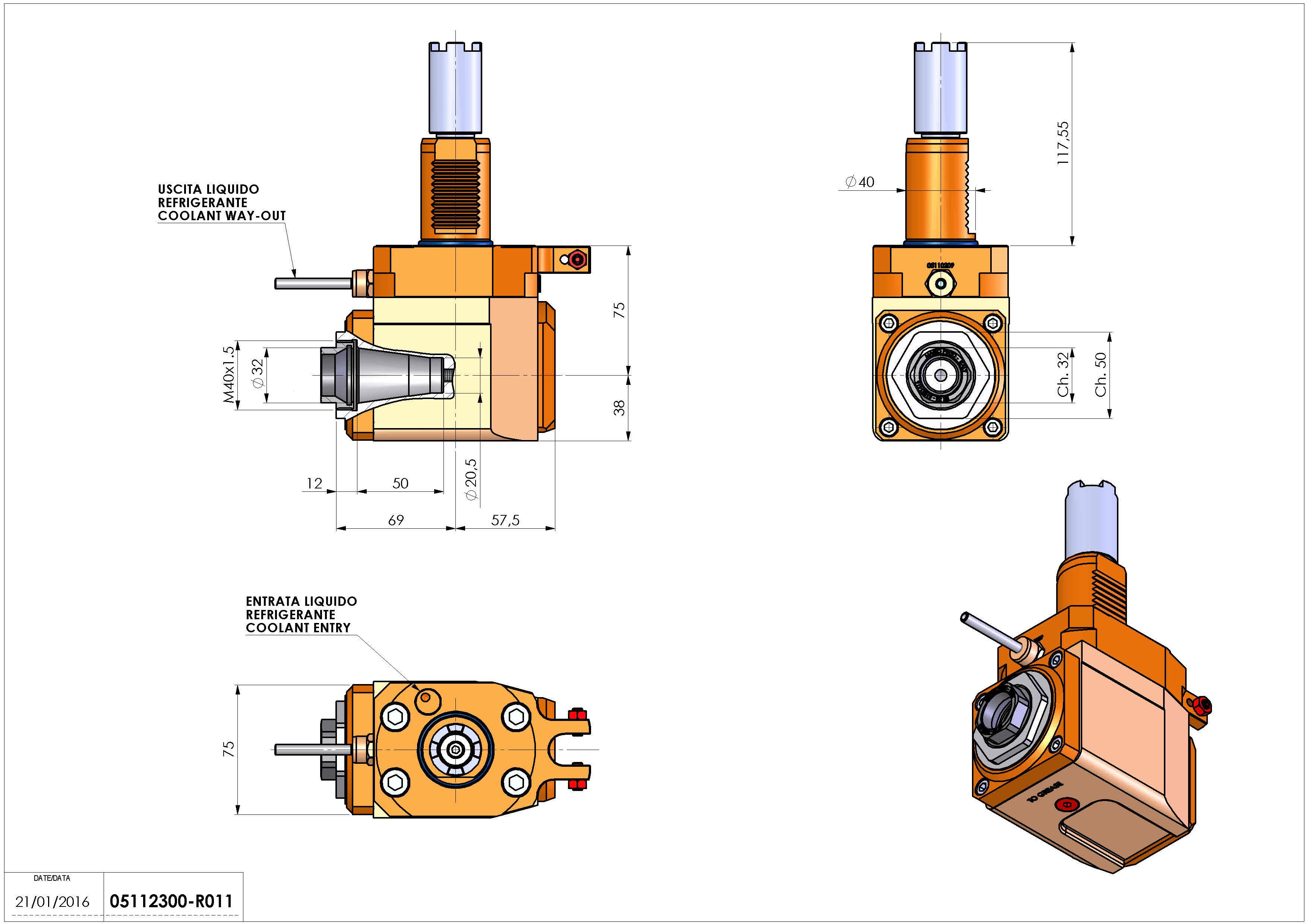 Technical image - LT-A VDI40 ER32F H75 117 HA.